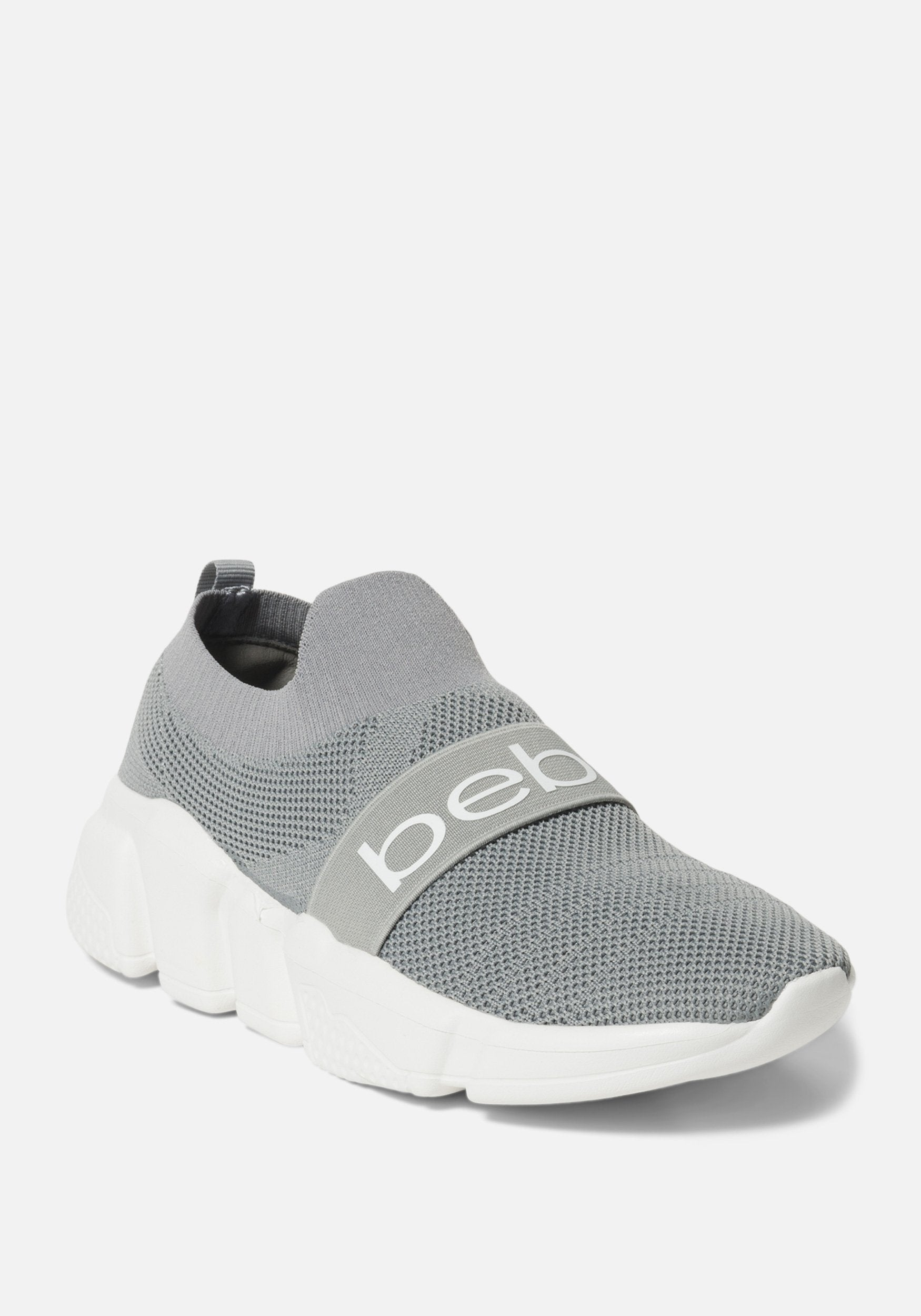 Bebe Women's Aindrea Chunky Sneakers, Size 6 in GREY Synthetic