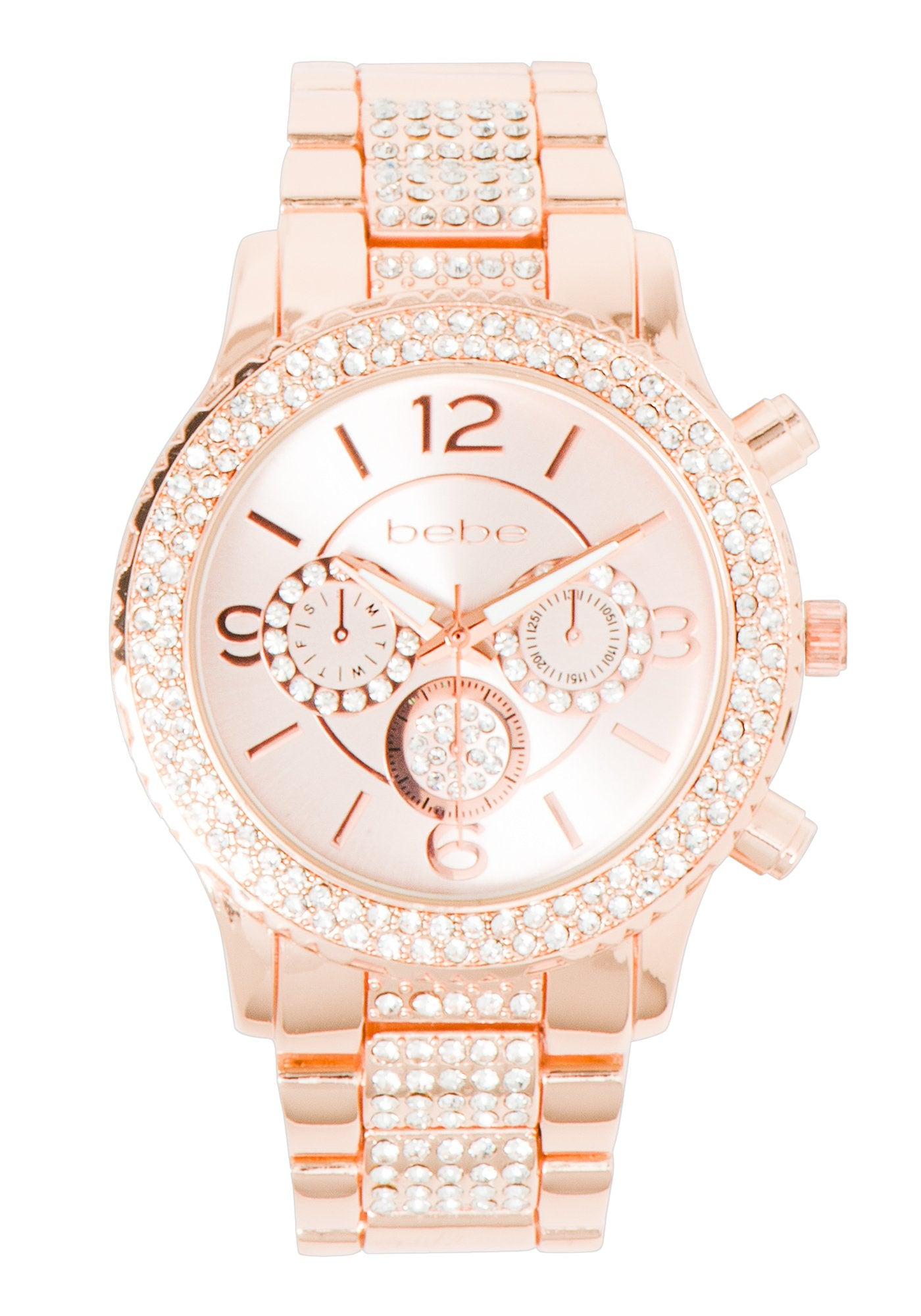 Women's Bebe Crystal Pave Watch in ROSE GOLD Metal