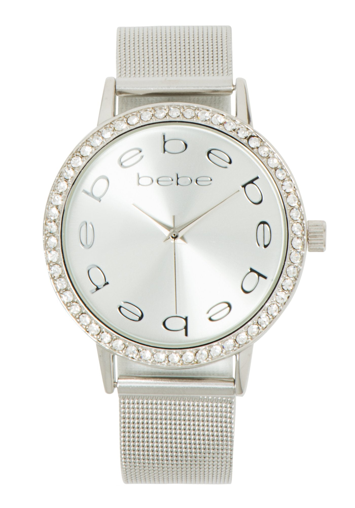Women's Mesh Bracelet Bebe Watch in SILVER