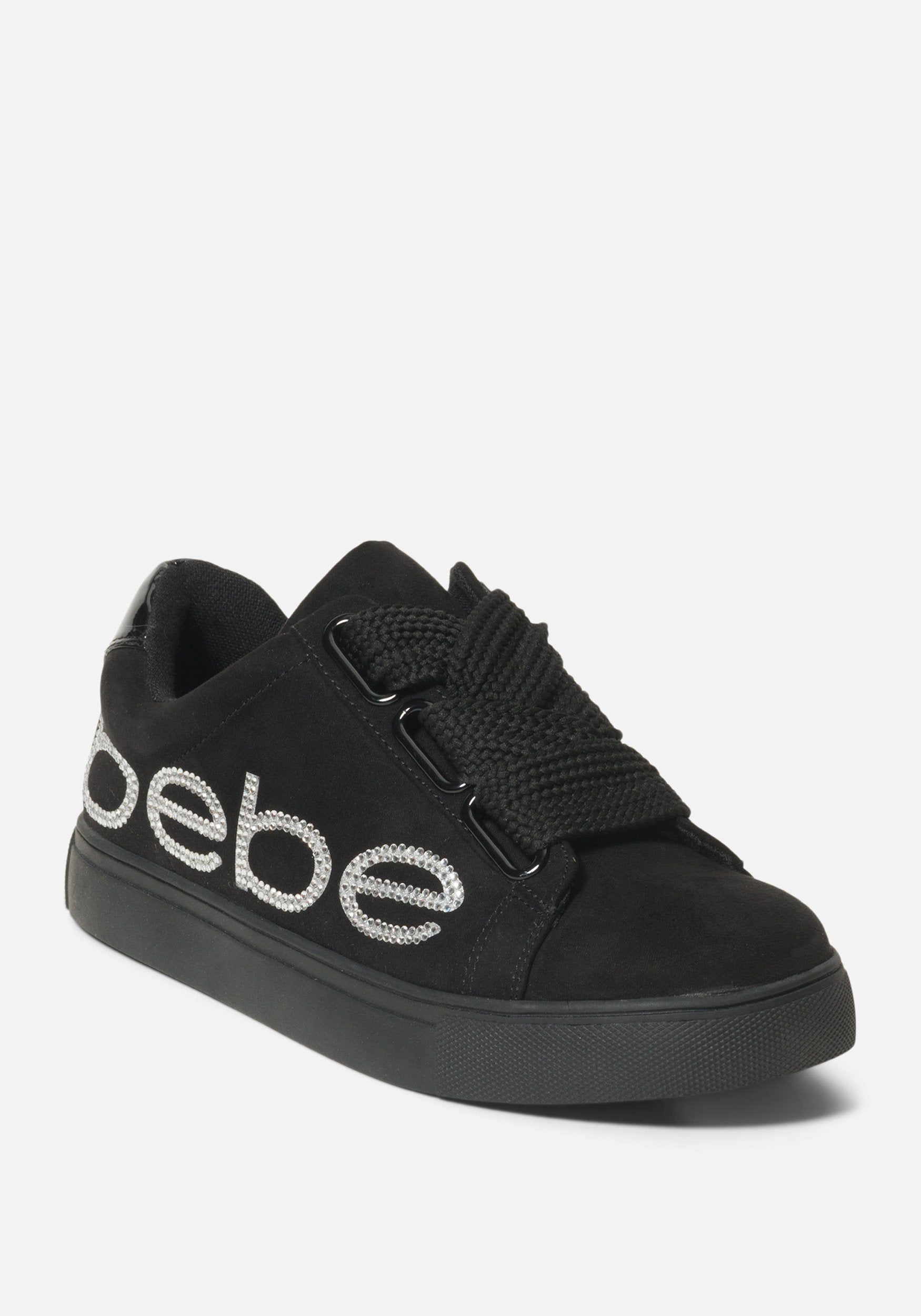 Women's Cabree Bebe Logo Sneakers, Size 6 in Black Synthetic