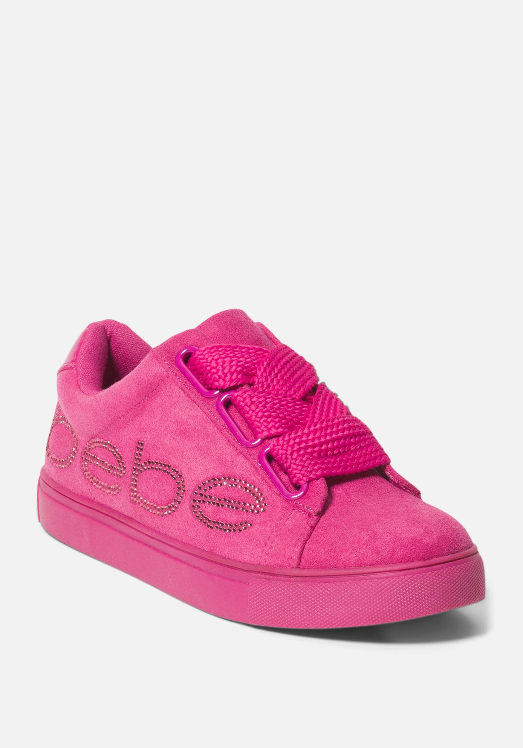 Women's Cabree Bebe Logo Sneakers, Size 6 in Hot Pink Synthetic