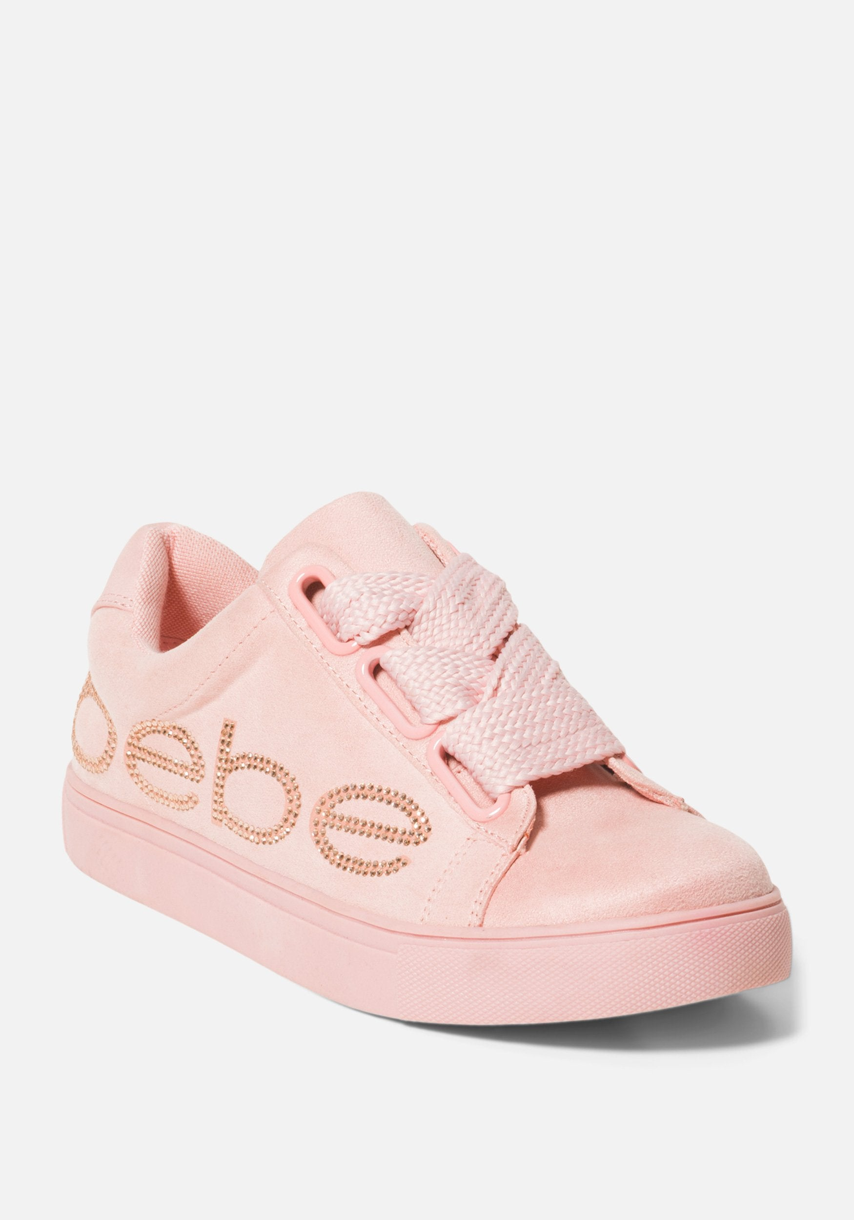 Women's Cabree Bebe Logo Sneakers, Size 6 in Pink Synthetic