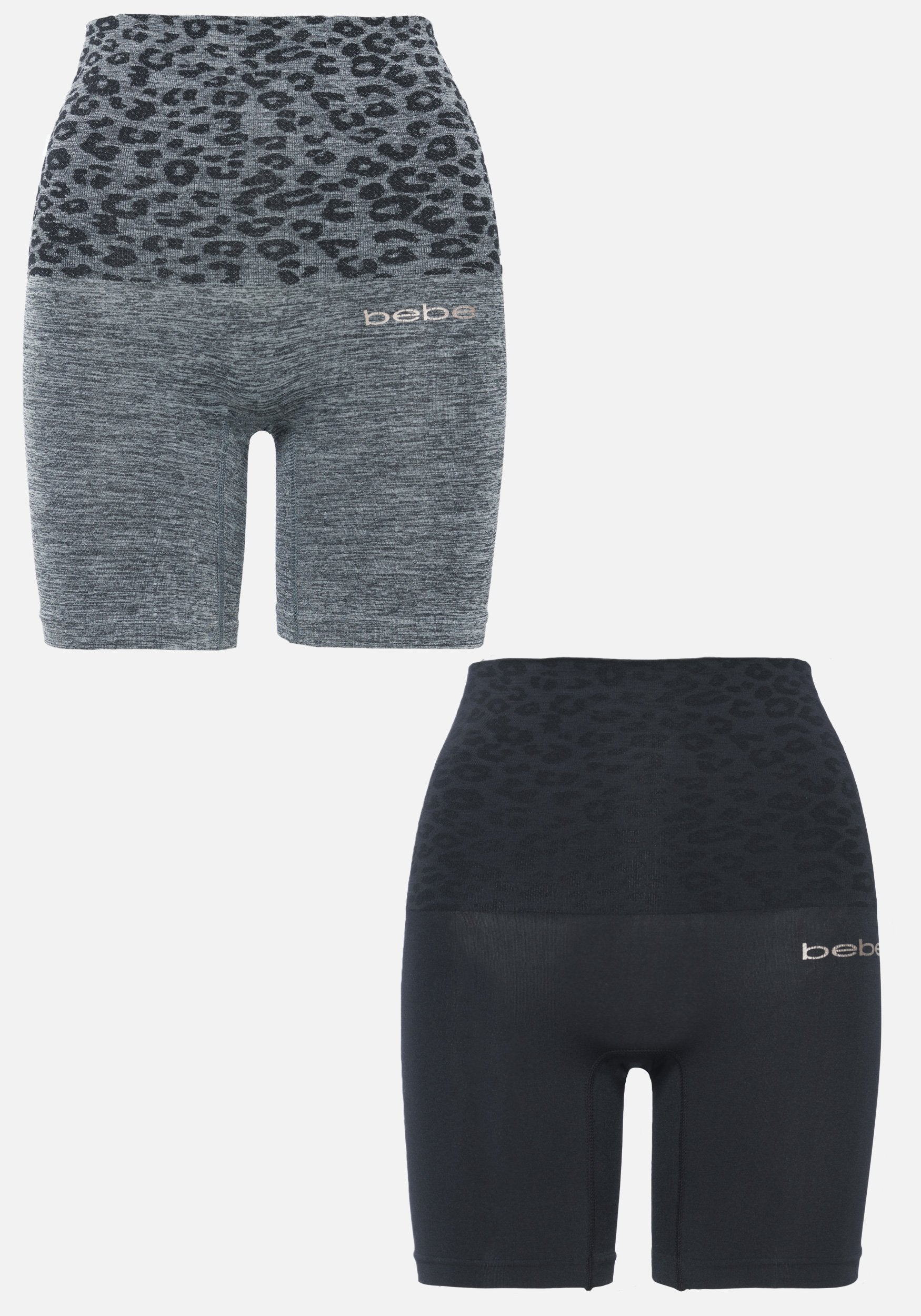 Bebe coupon: Bebe Women's 2 Pack Seamless Thigh Shaper Set, Size Small in Charcoal Heather Spandex/Nylon