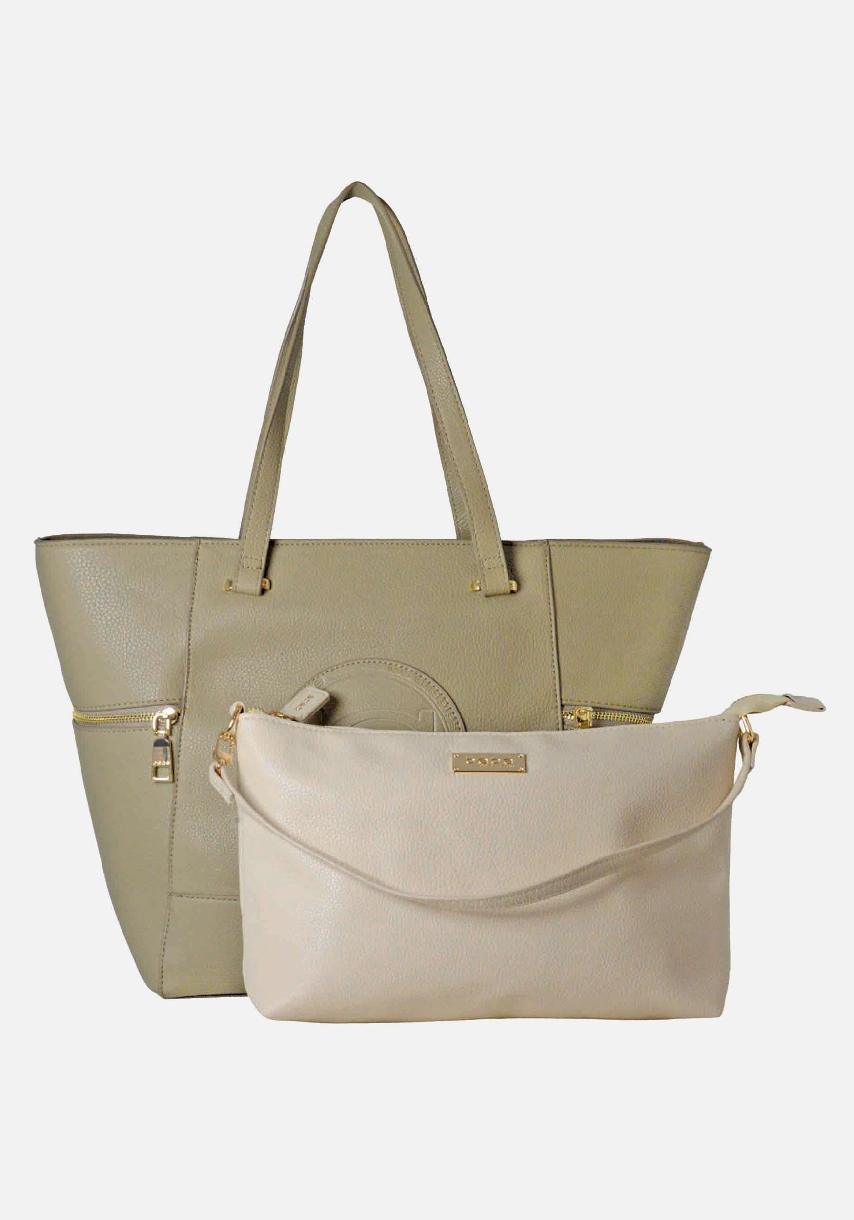 Bebe coupon: Bebe Women's Rumi Tote Bag in Taupe/Sand Polyester