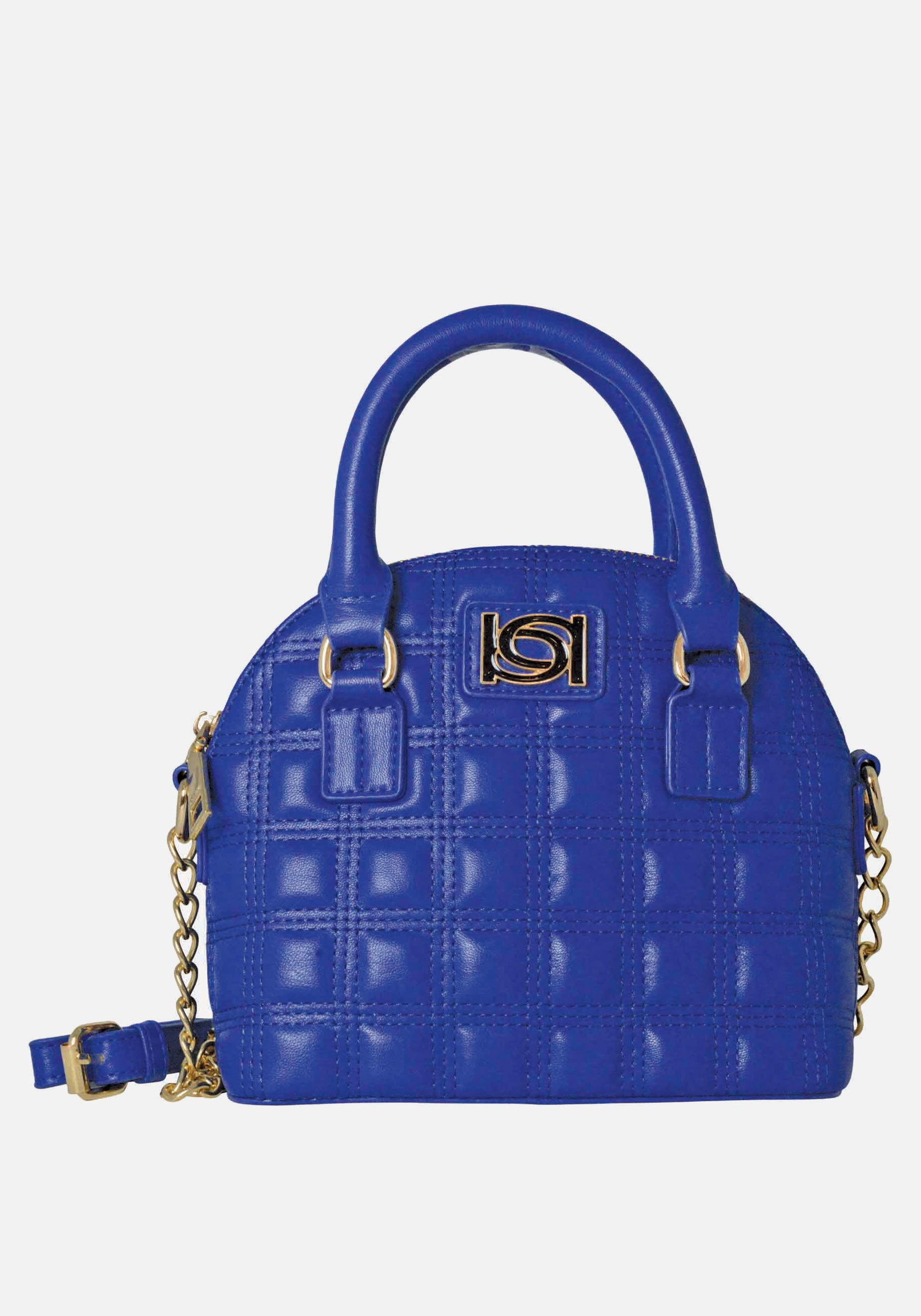 Bebe Women's Maia Mini Dome Crossbody in Electric Blue Polyester