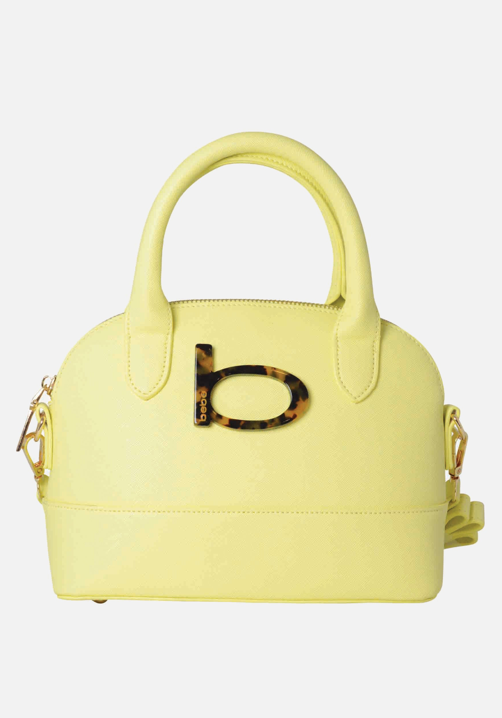 Bebe Women's Emilia Dome Crossbody in Yellow Polyester