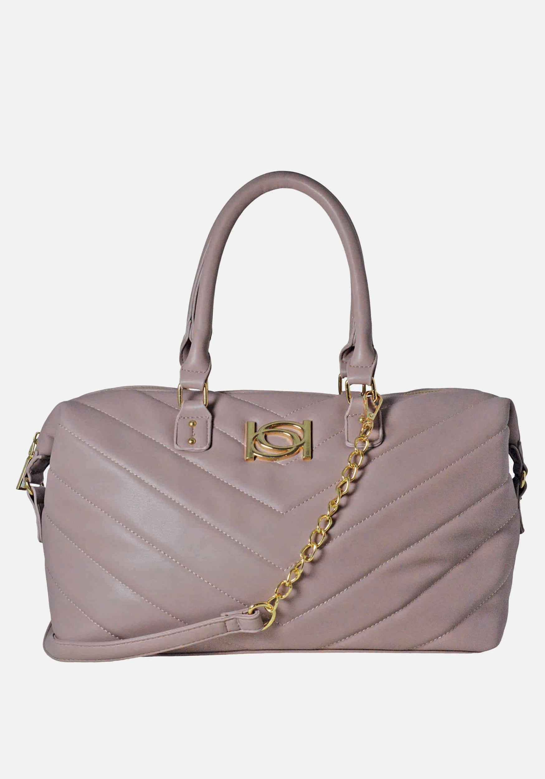 Bebe Women's Levi Satchel in Mauve Polyester