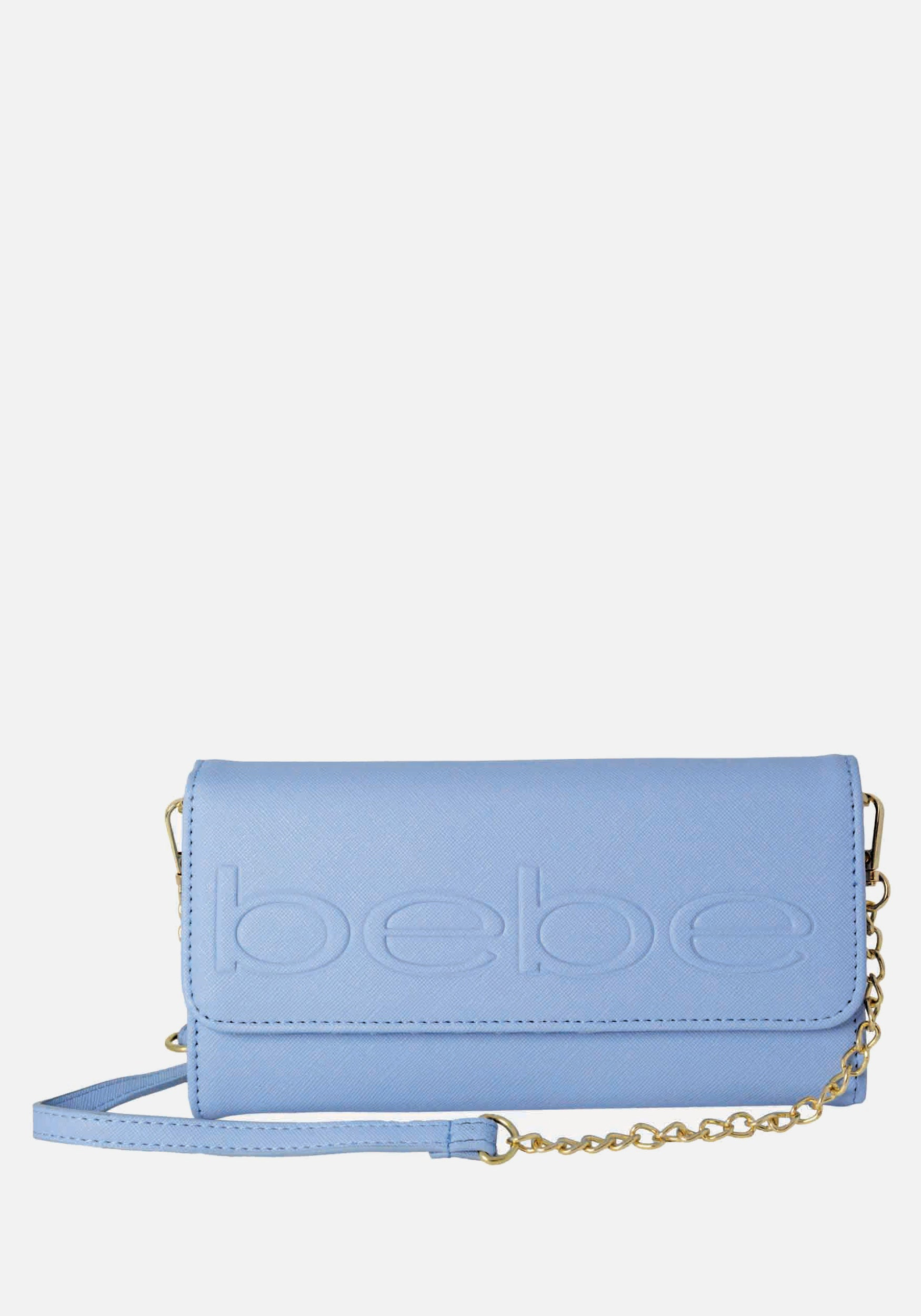 Bebe Women's Lila Phone Wallet Crossbody in Blue Polyester