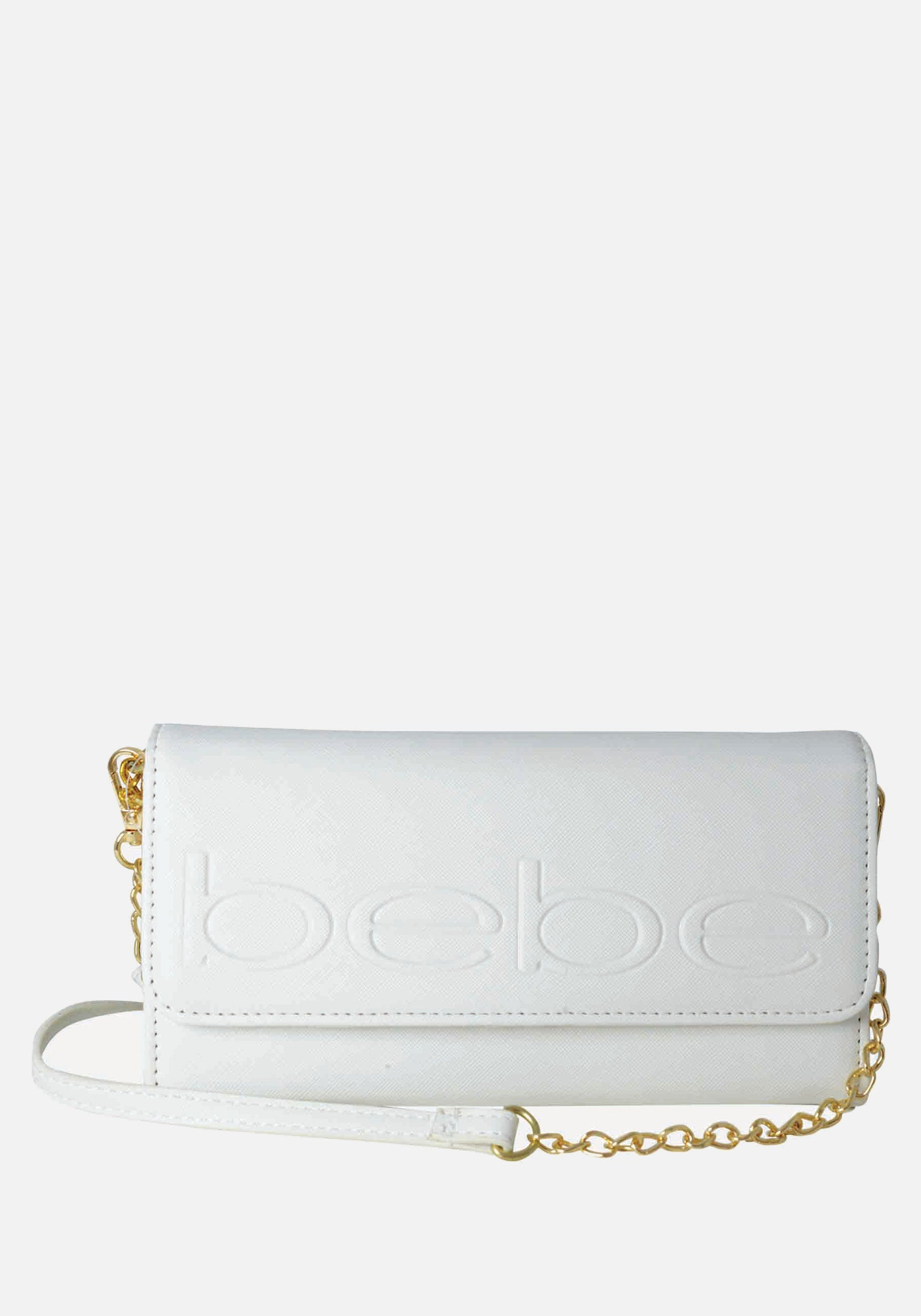 Bebe Women's Lila Phone Wallet Crossbody in Off White Polyester