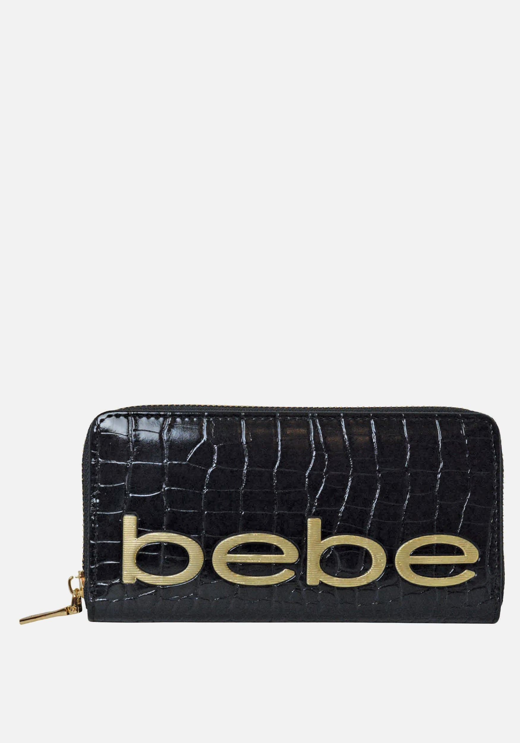 Bebe Women's Fabiola Stamped Wallet in Black Polyester
