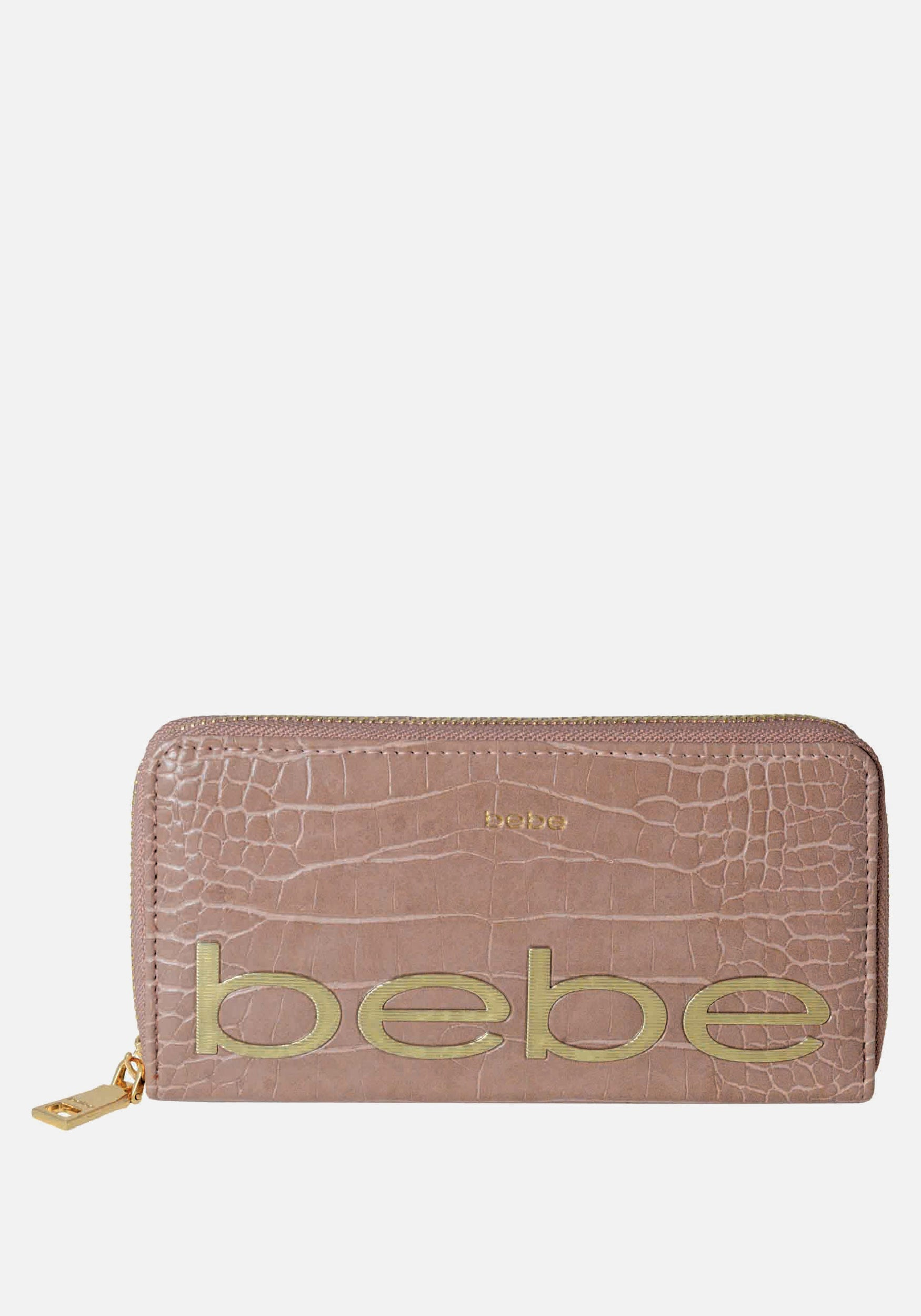 Bebe Women's Fabiola Stamped Wallet in Dark Blush Polyester