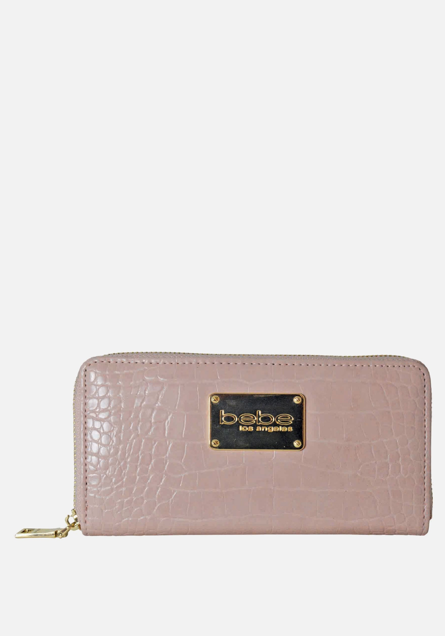 Bebe Women's Natalia Croco Wallet in Dusty Pink Polyester