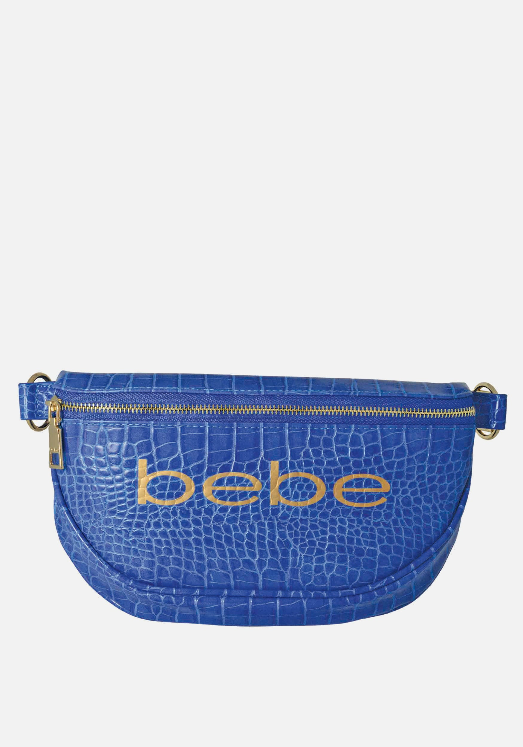 Bebe Women's Josephine Croco Convertible Sling in Blue Polyester