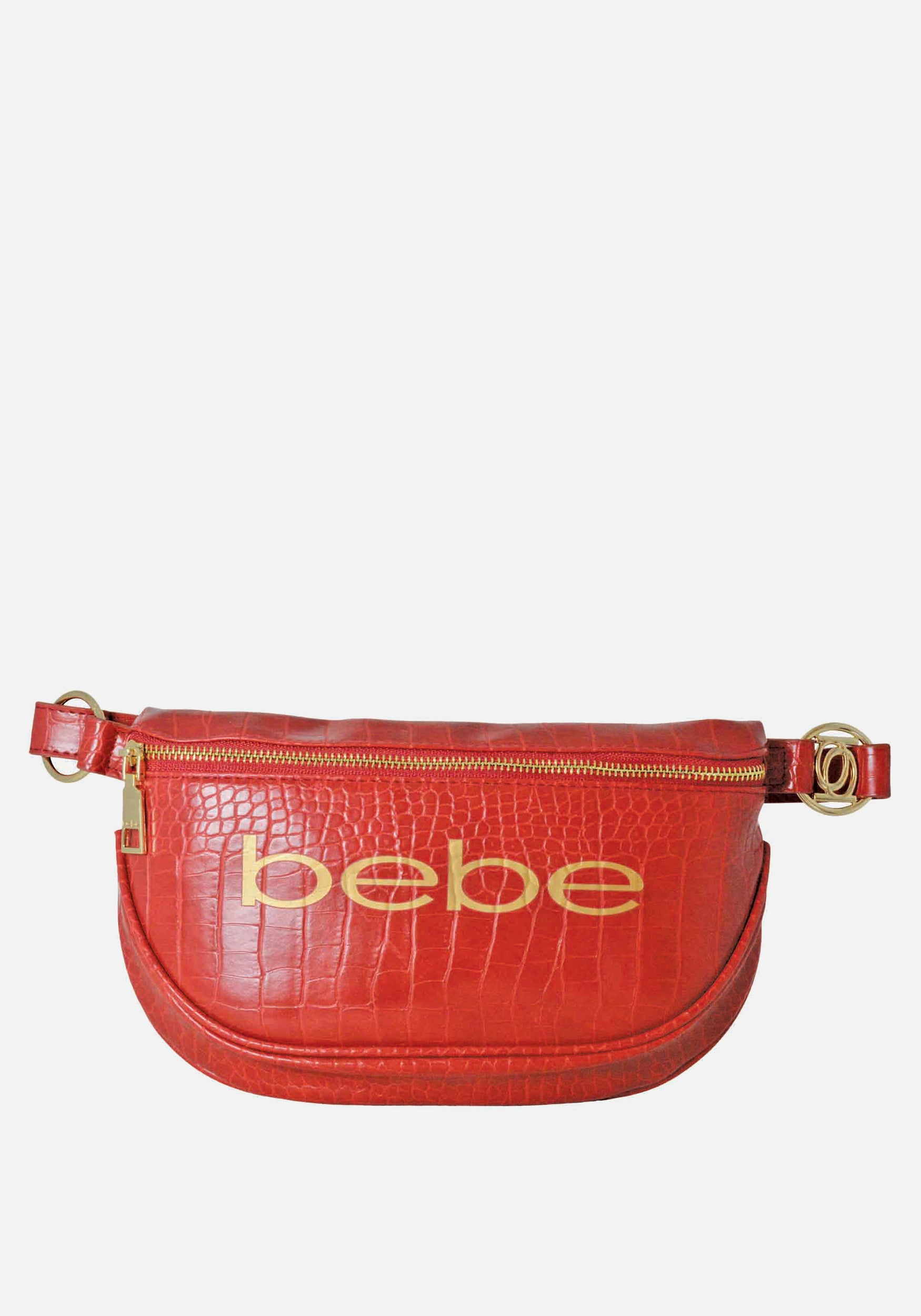 Bebe Women's Josephine Croco Convertible Sling in Candy Apple Polyester