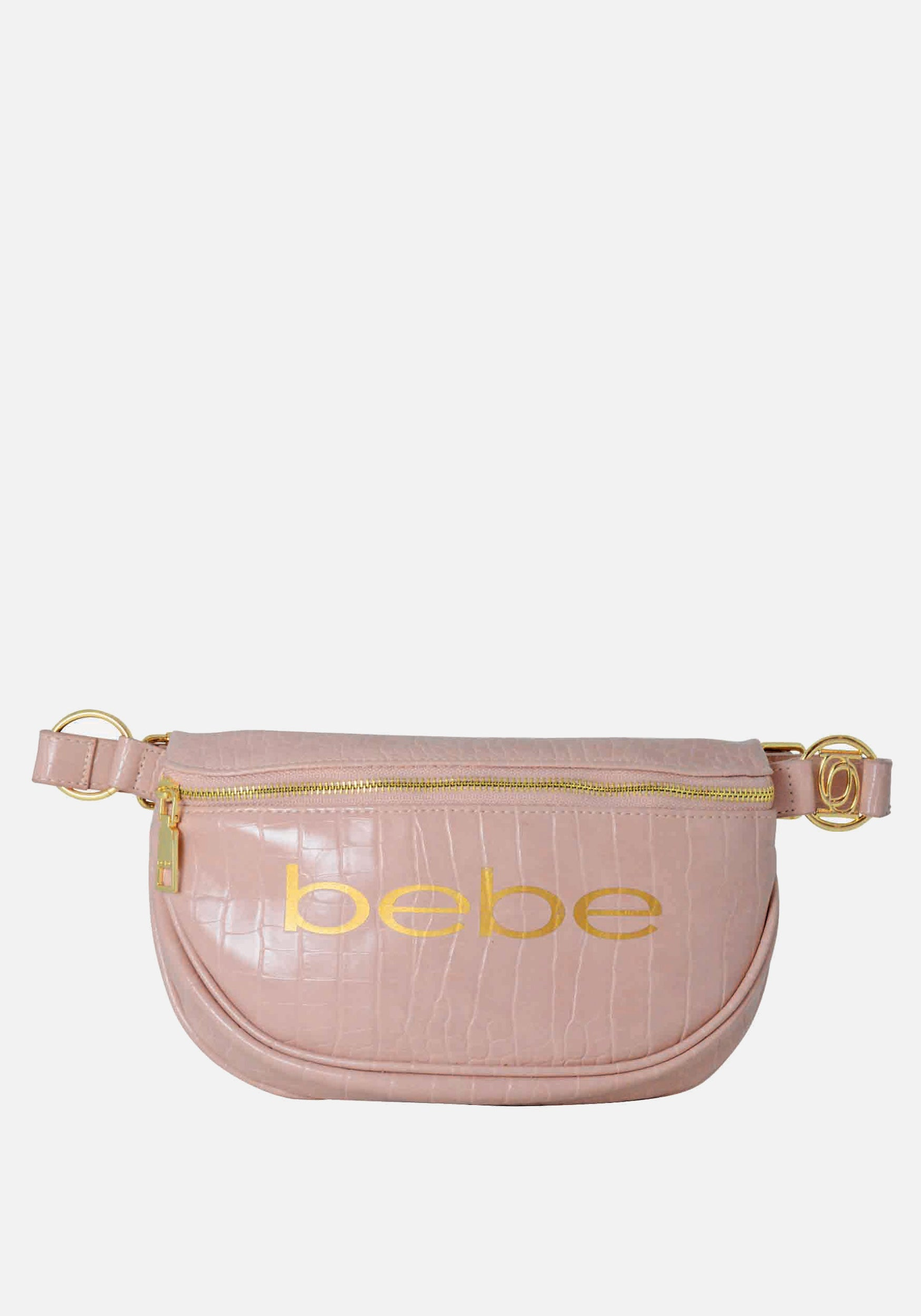 Bebe coupon: Bebe Women's Josephine Croco Convertible Sling in Dusty Pink Polyester