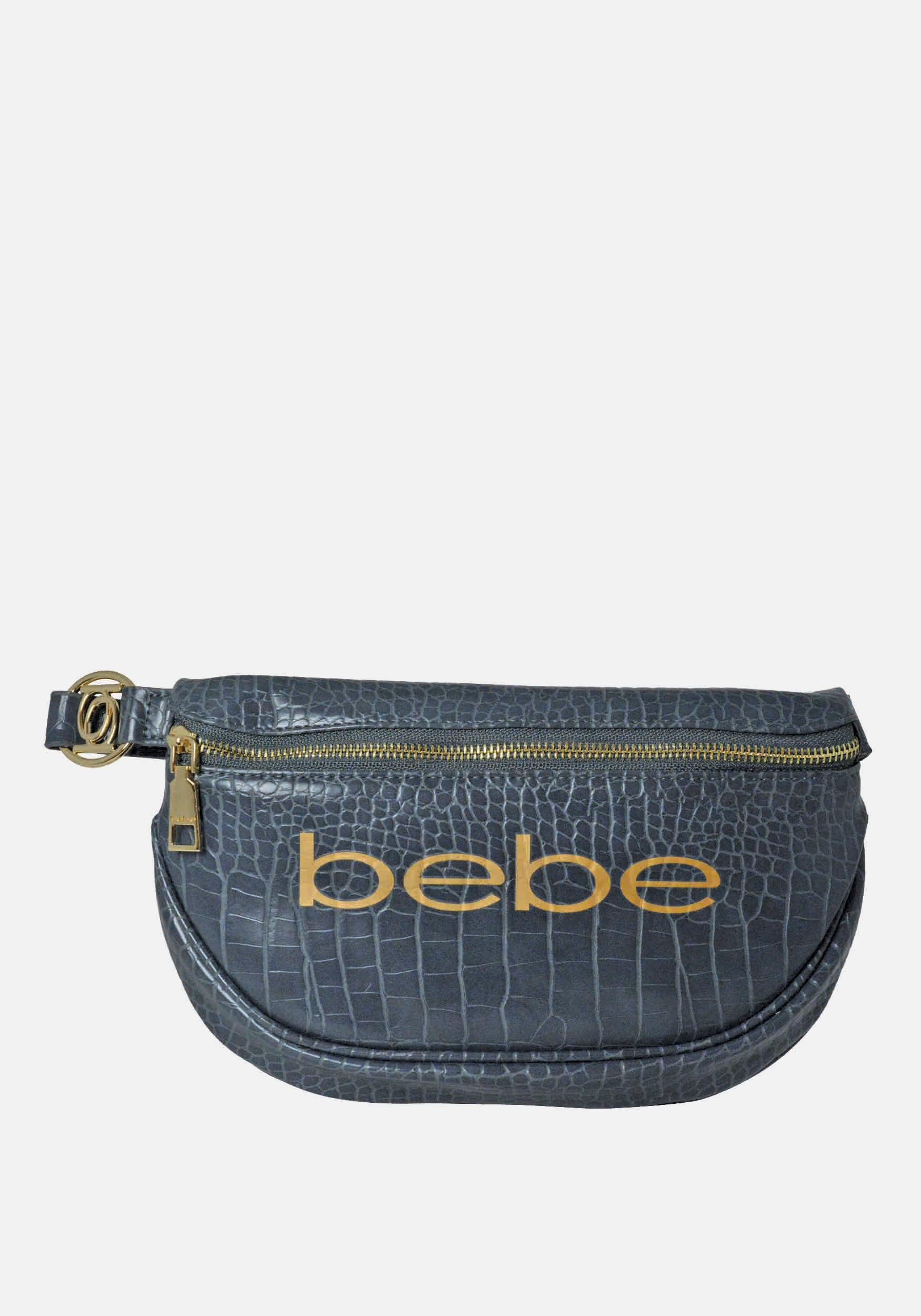 Bebe Women's Josephine Croco Convertible Sling in Grey Polyester