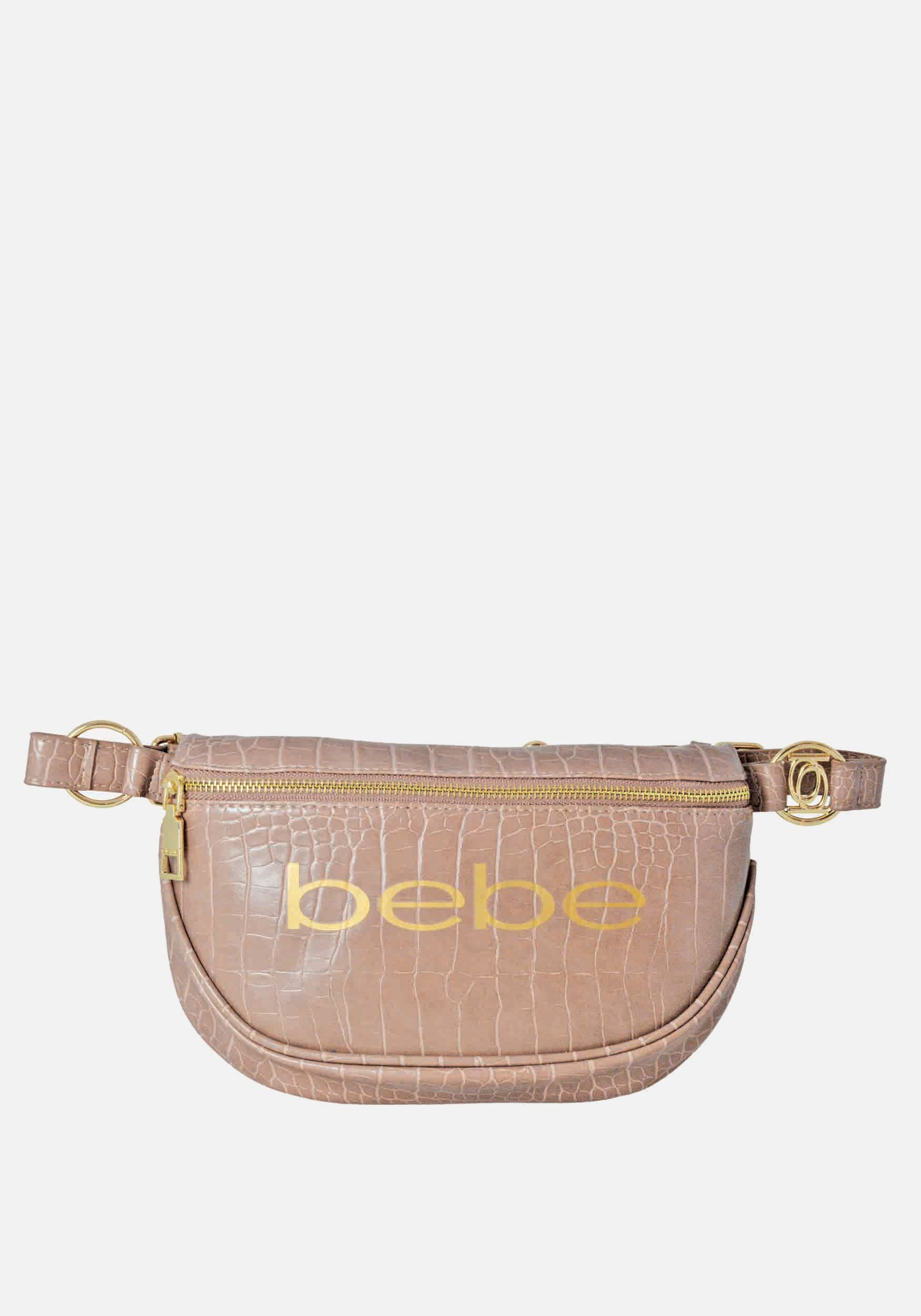 Bebe Women's Josephine Croco Convertible Sling in Mink Polyester