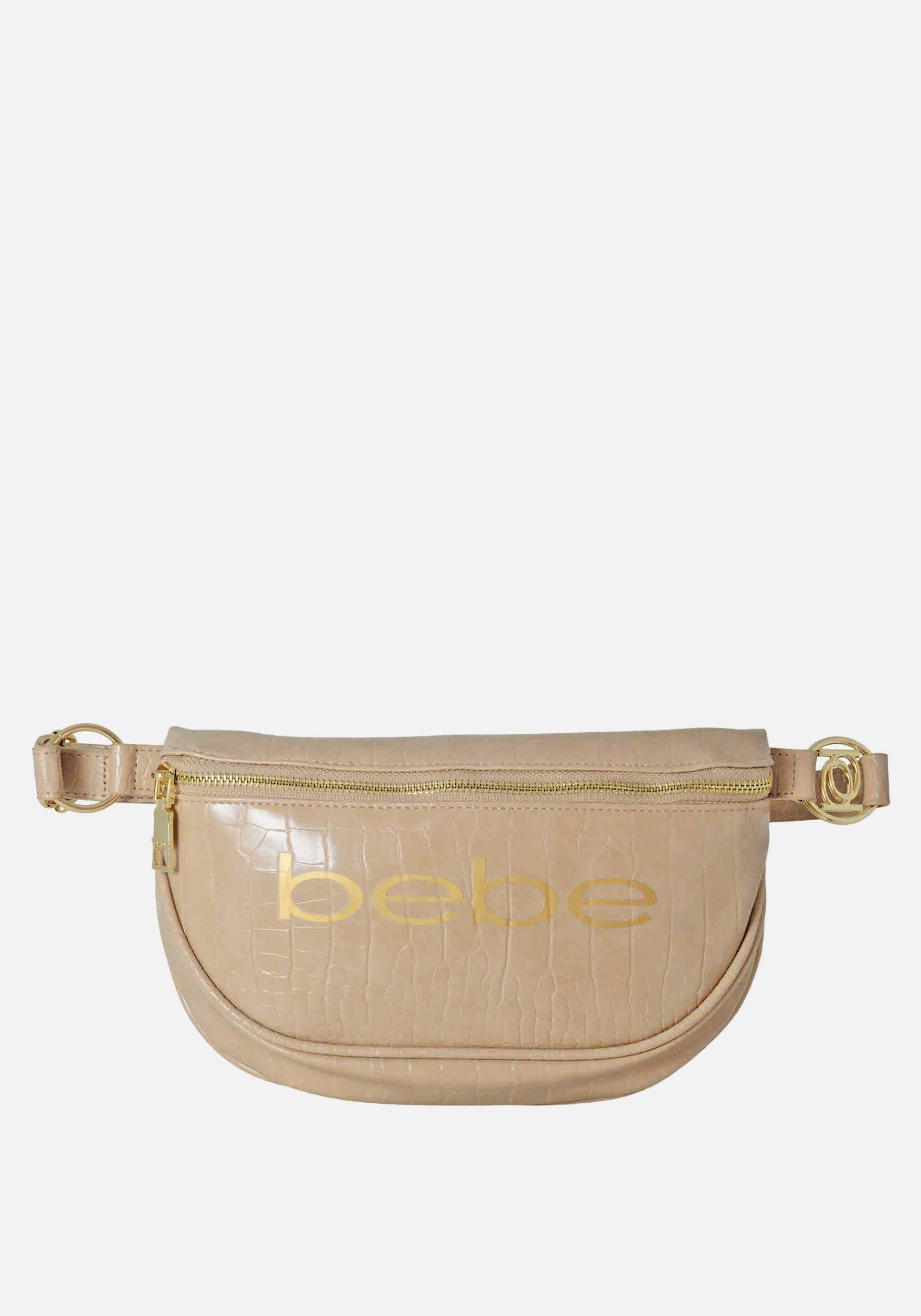 Bebe Women's Josephine Croco Convertible Sling in Taupe Polyester