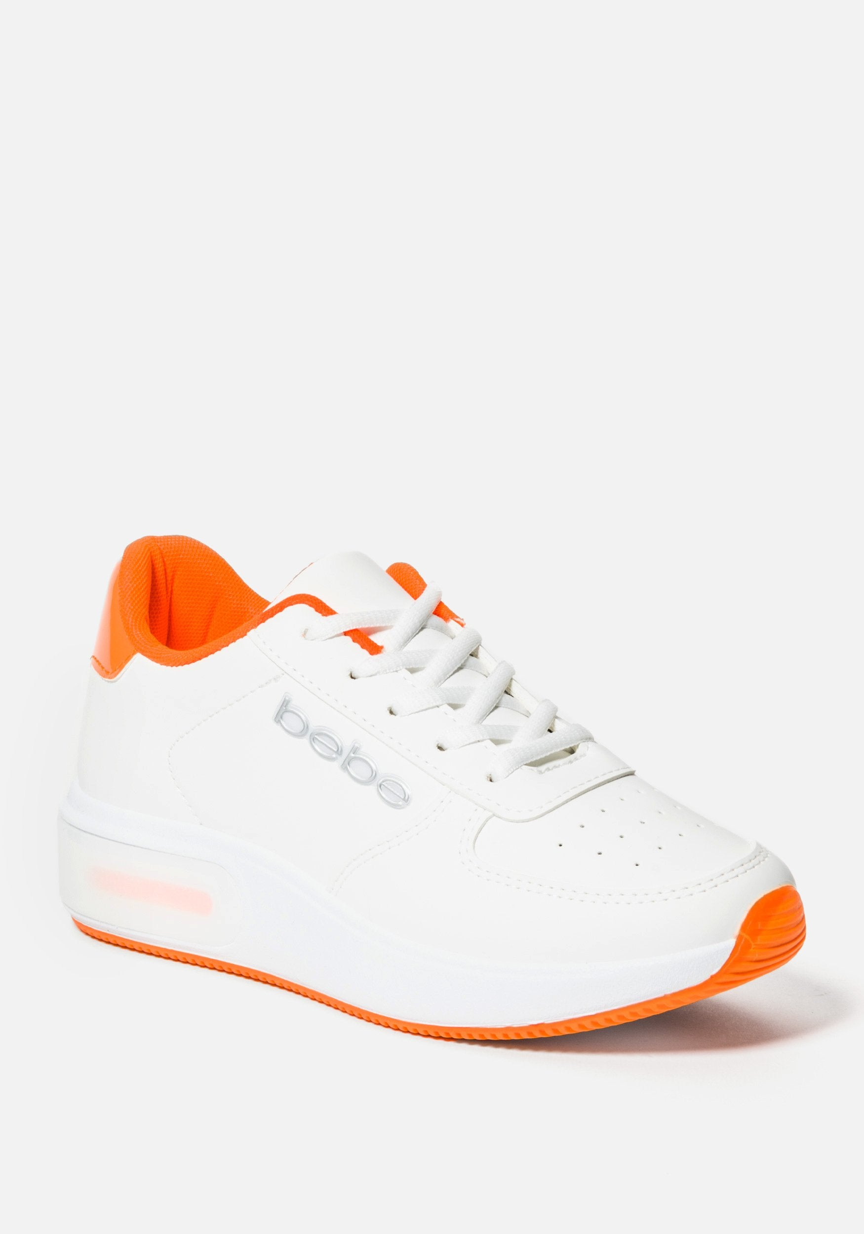 Bebe Women's Lennin Chunky Sneakers, Size 6 in WHITE ORANGE Synthetic