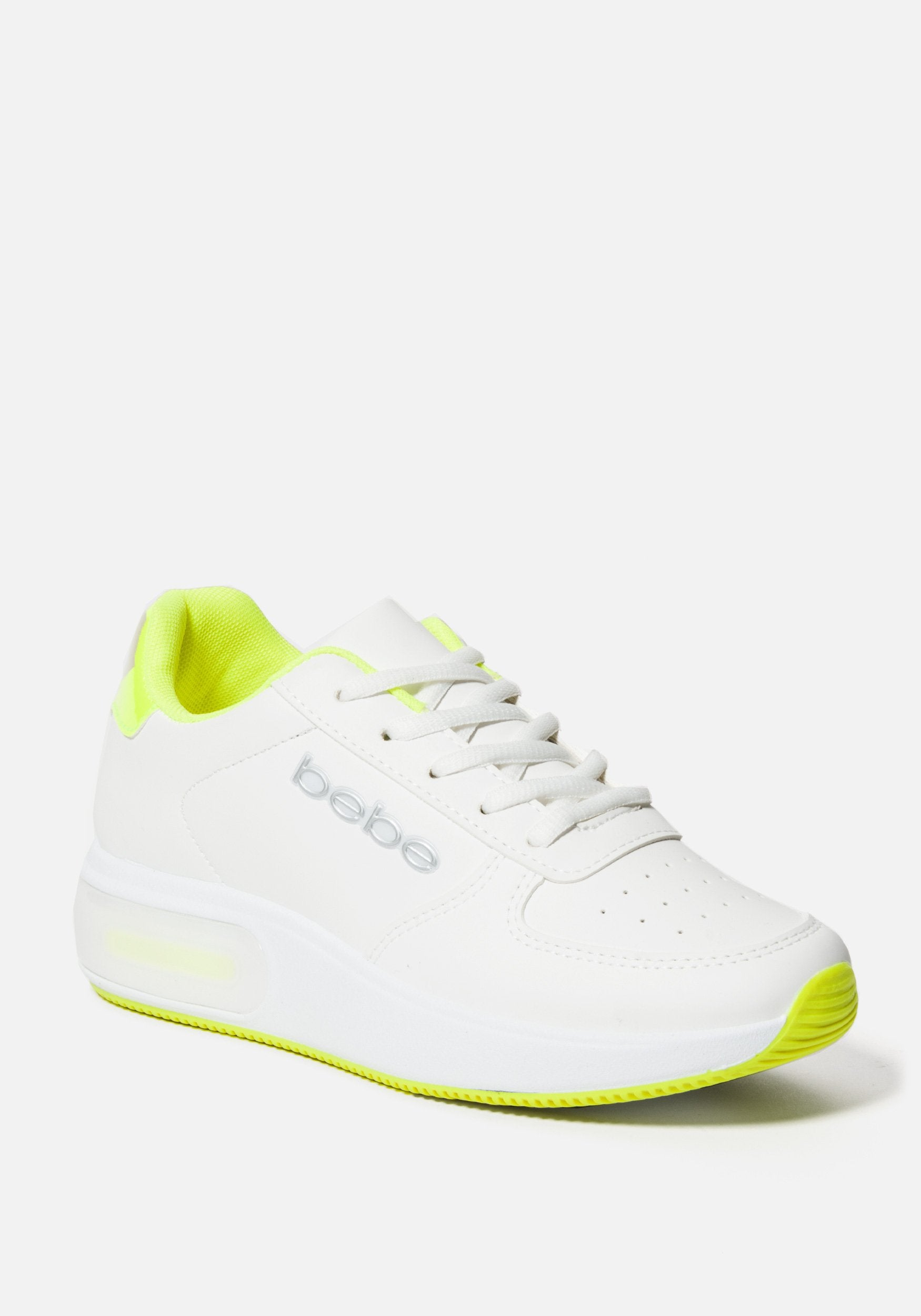 Bebe Women's Lennin Chunky Sneakers, Size 6 in WHITE YELLOW Synthetic