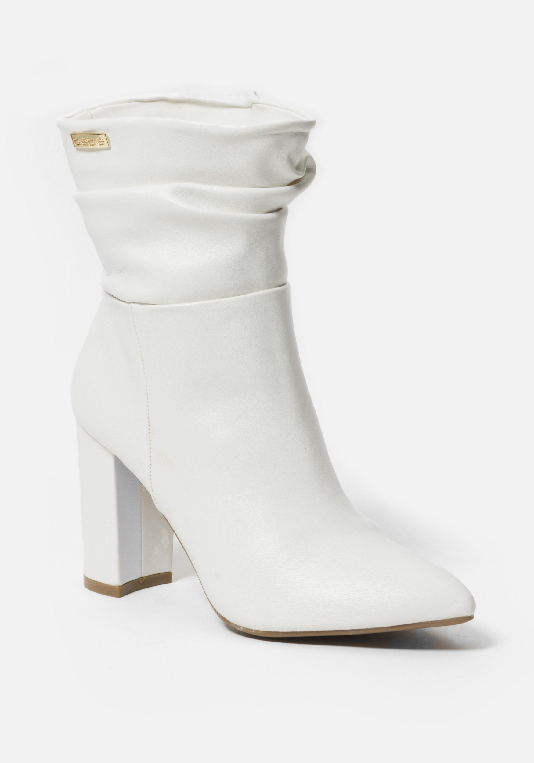 Bebe Women's Savita Slouch Booties, Size 6 in WHITE Synthetic
