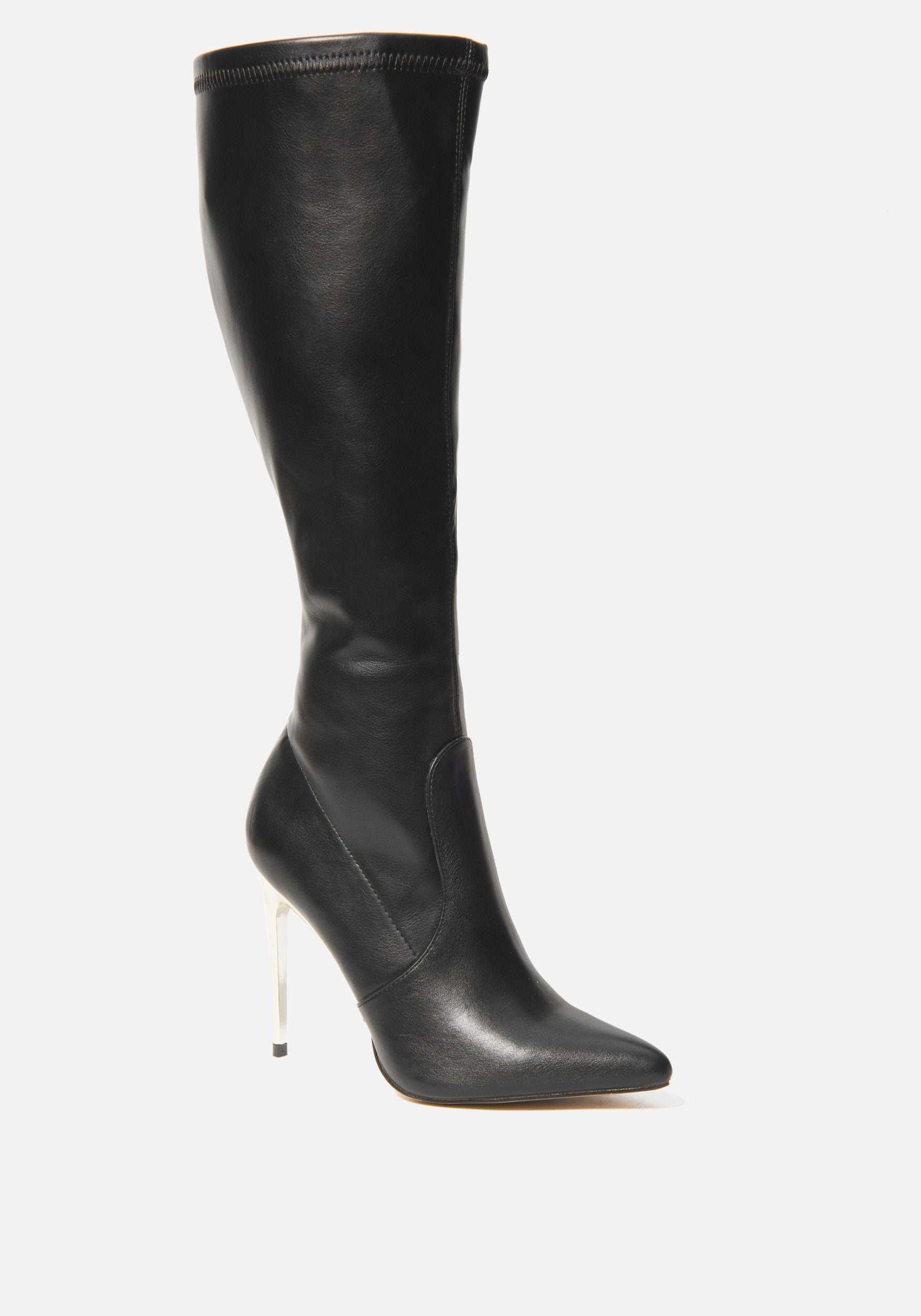 Bebe Women's Valeria Knee High Boots, Size 6 in BLACK Synthetic