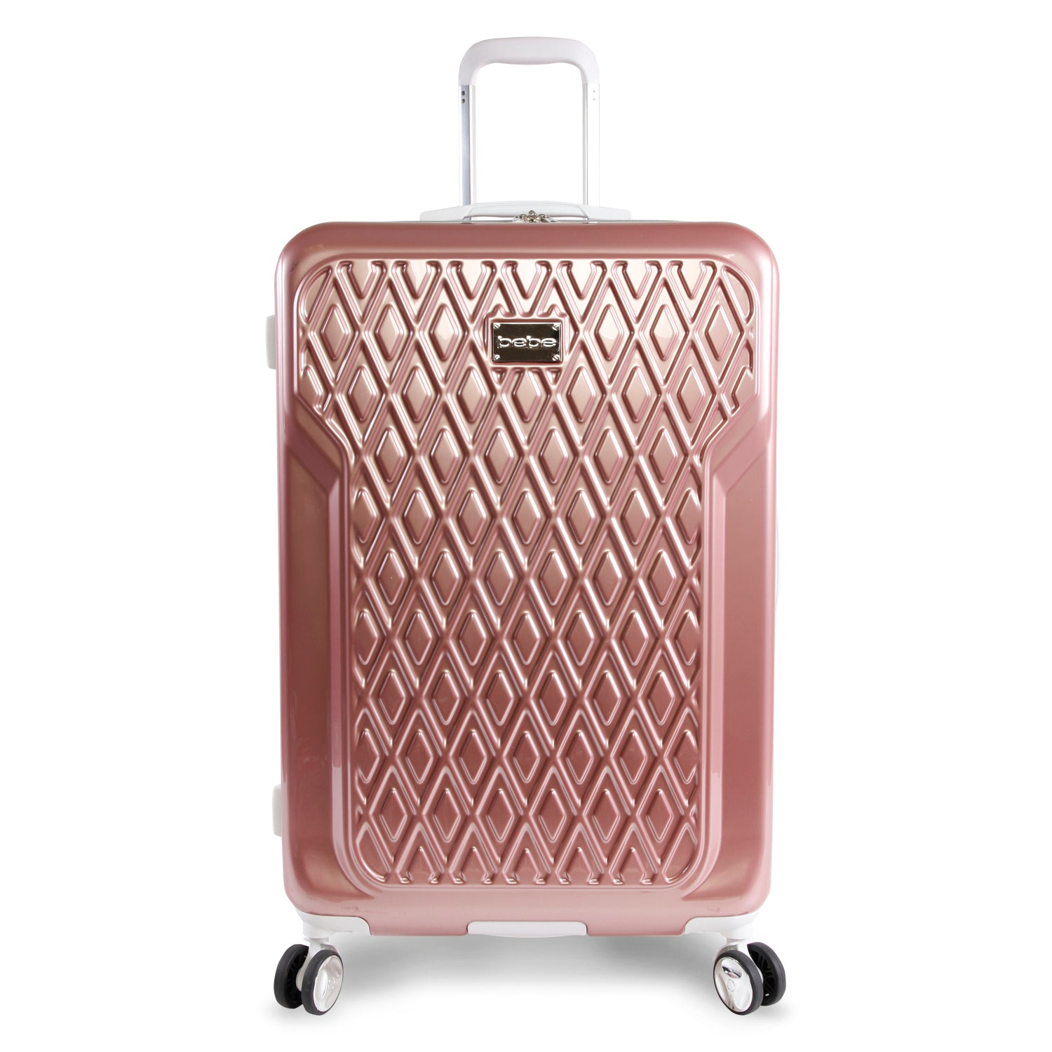 Women's Bebe 29-Inch Spinner Suitcase, Size 29 Inch in Rose Gold