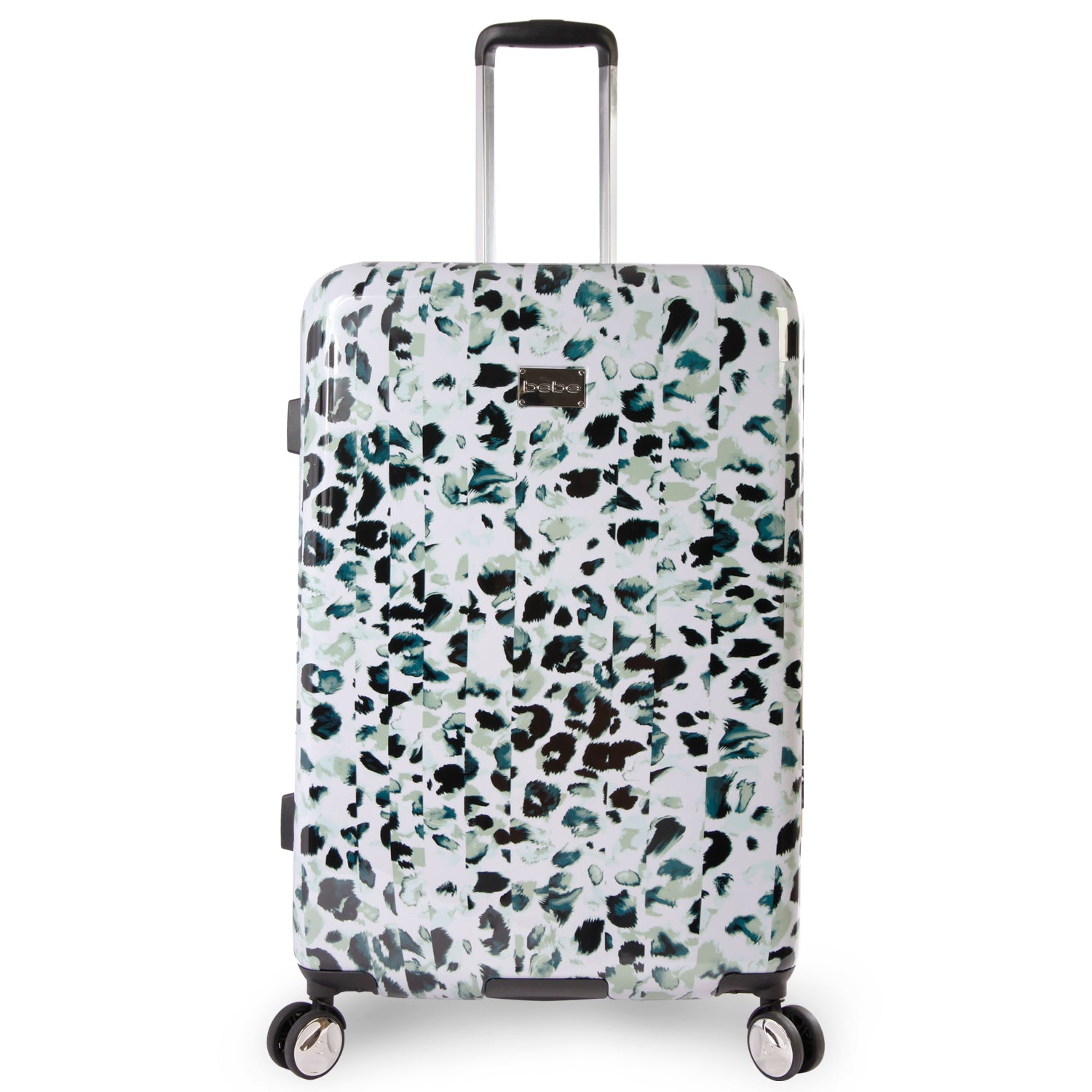 Bebe Women's Dotted 29-Inch Suitcase, Size 29 Inch in Winter Leopard
