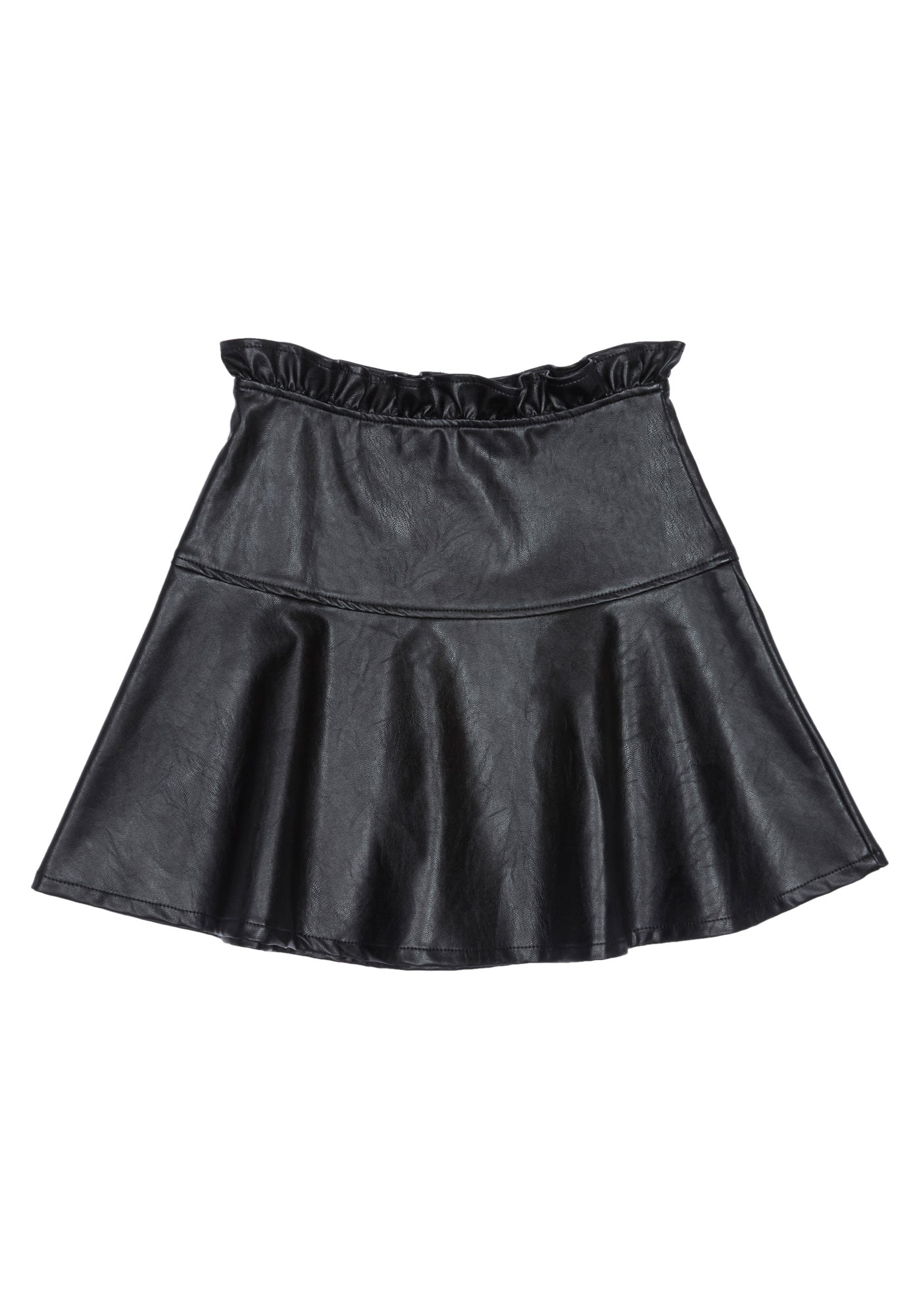 Bebe Women's Girls Faux Leather Skirt, Size 10 in Black Polyurethane