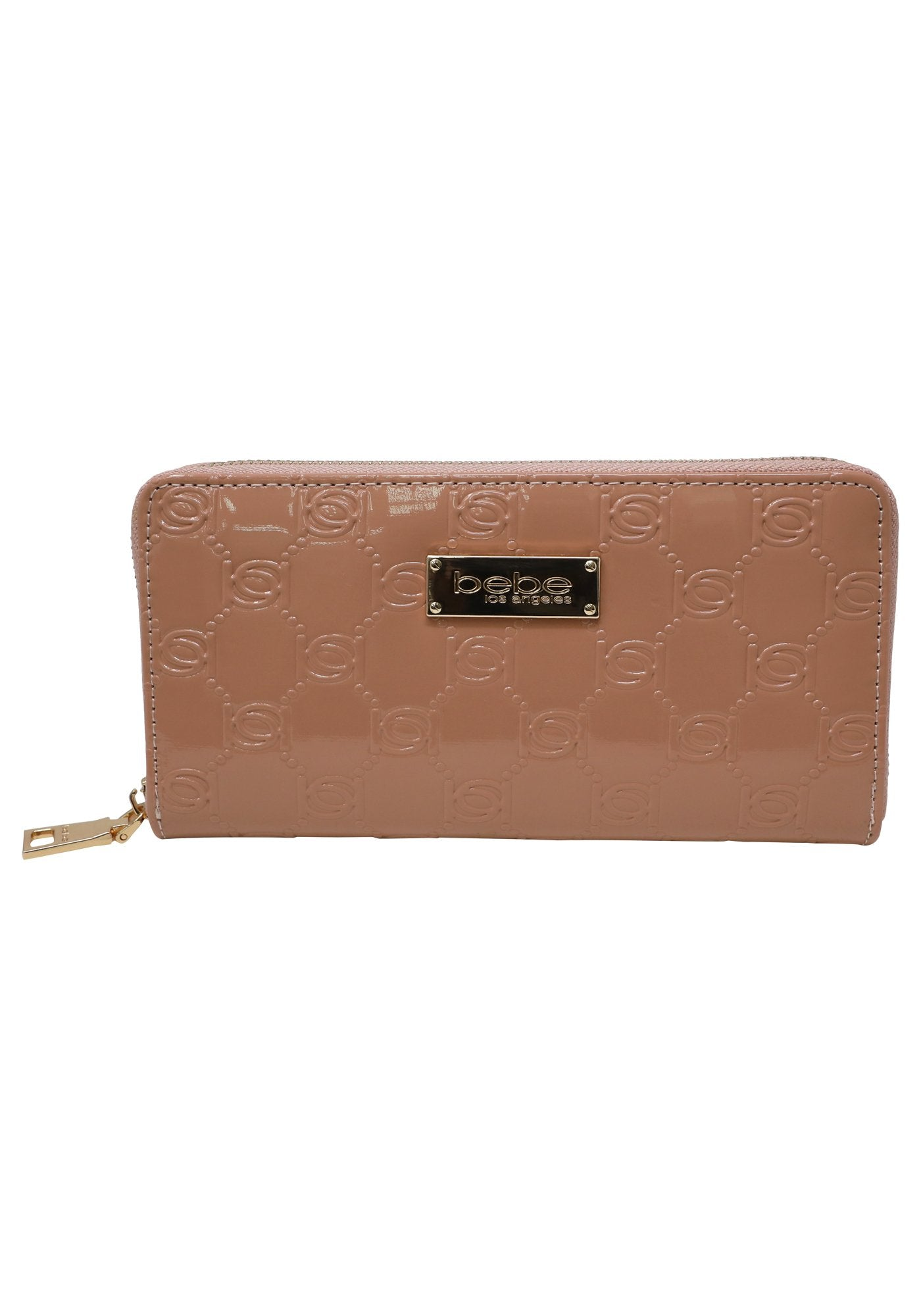 Bebe Women's Dana Patent Wallet, Size Mini in Blush