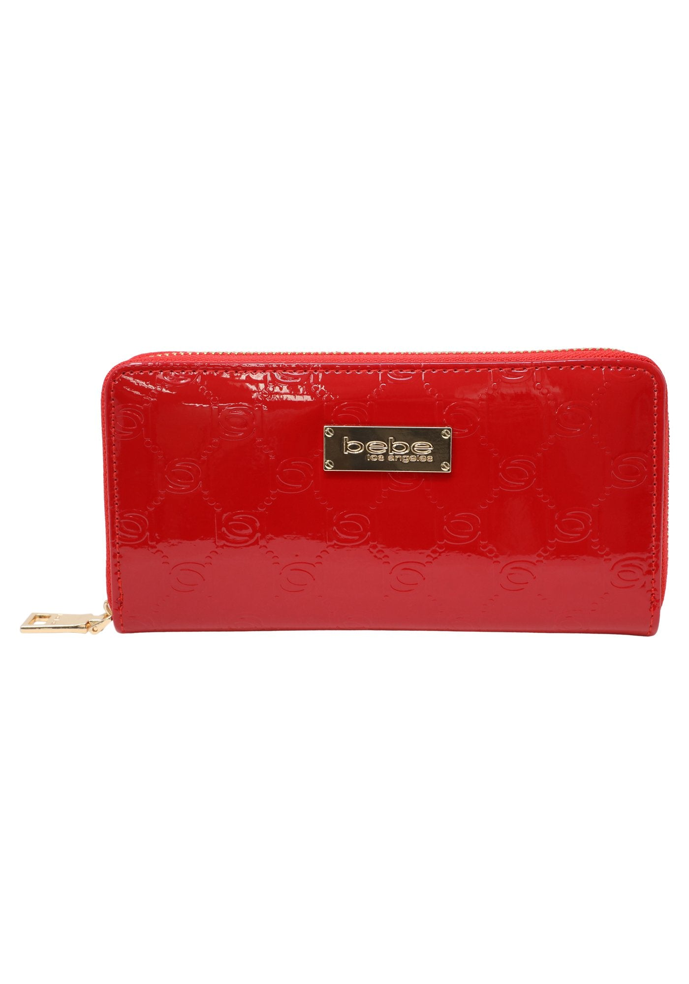 Bebe Women's Dana Patent Wallet, Size Mini in Red