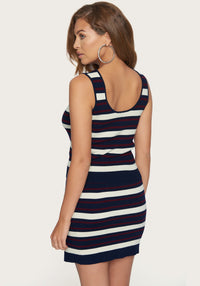 Navy/Berry Stripe