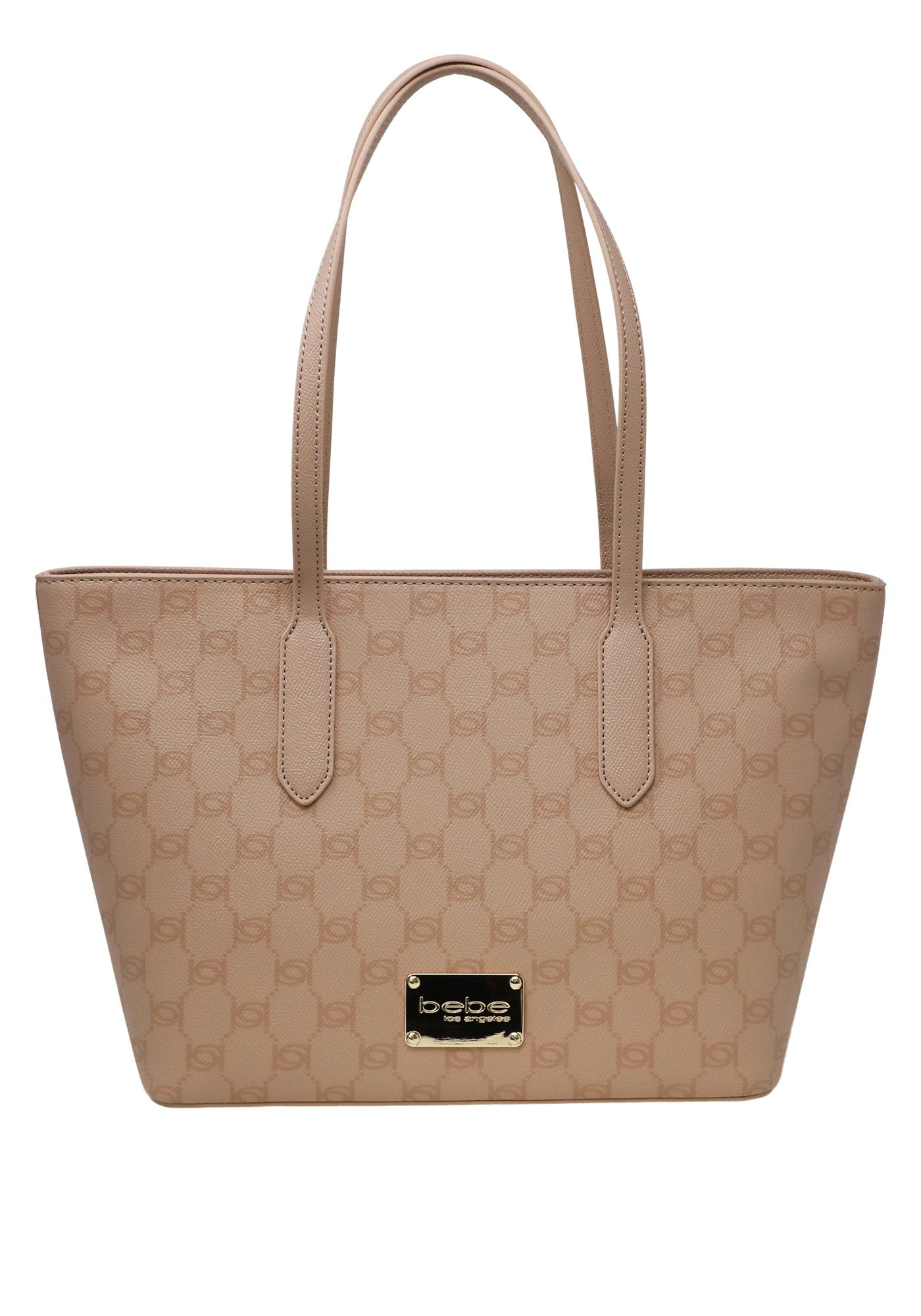 Bebe Women's Lizzie Small Tote Bag, Size OS in Blush Polyurethane