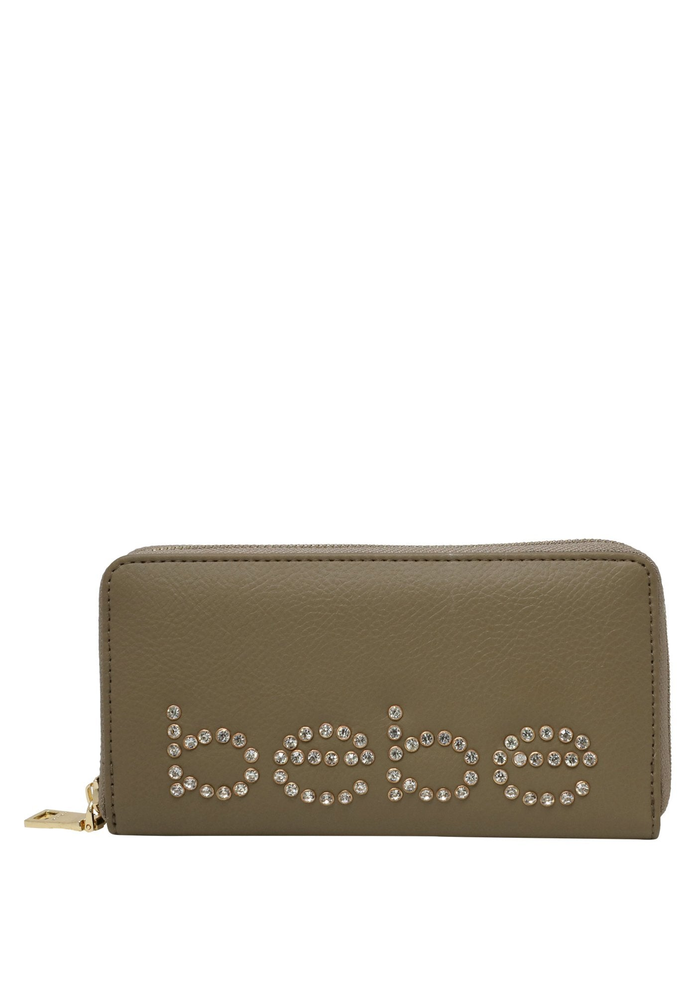 Bebe Women's Jetta Zip Around Wallet, Size OS in Taupe Polyurethane