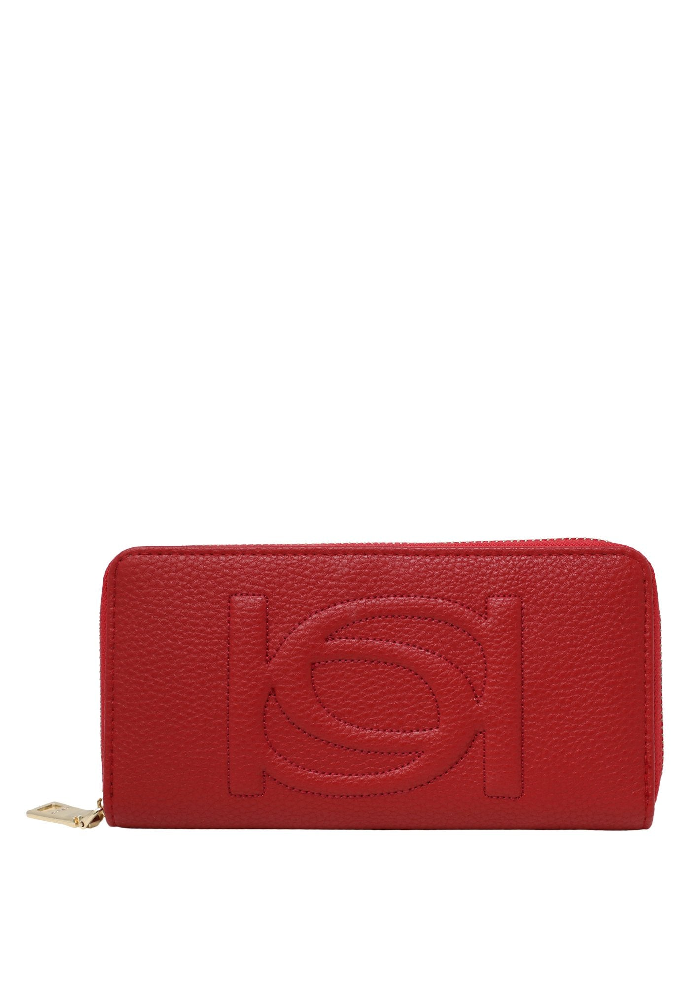 Bebe Women's Poppy Zip Around Wallet, Size OS in Red Polyurethane