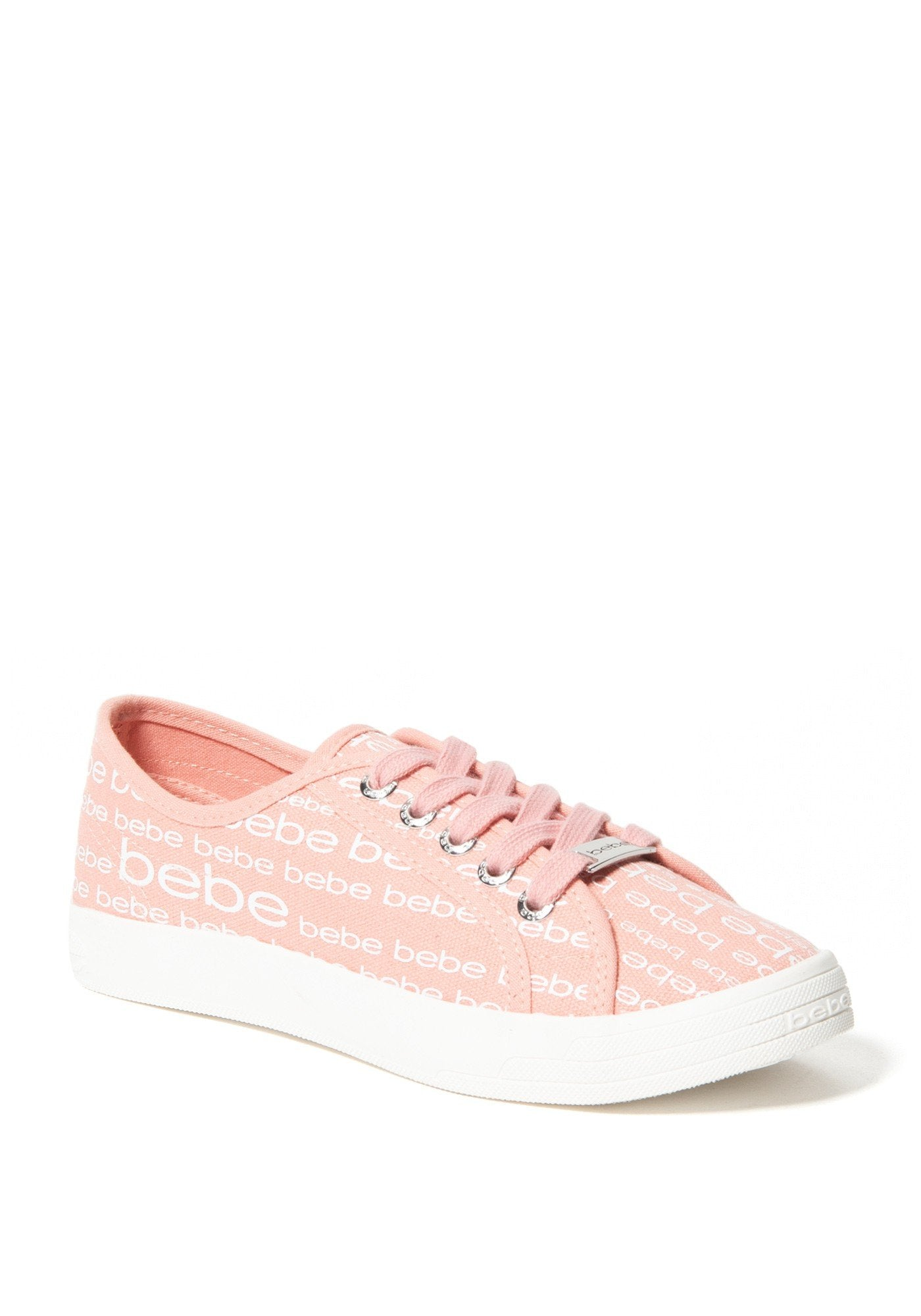 Bebe Women's Daylin Logo Sneakers, Size 6 in Pink Synthetic