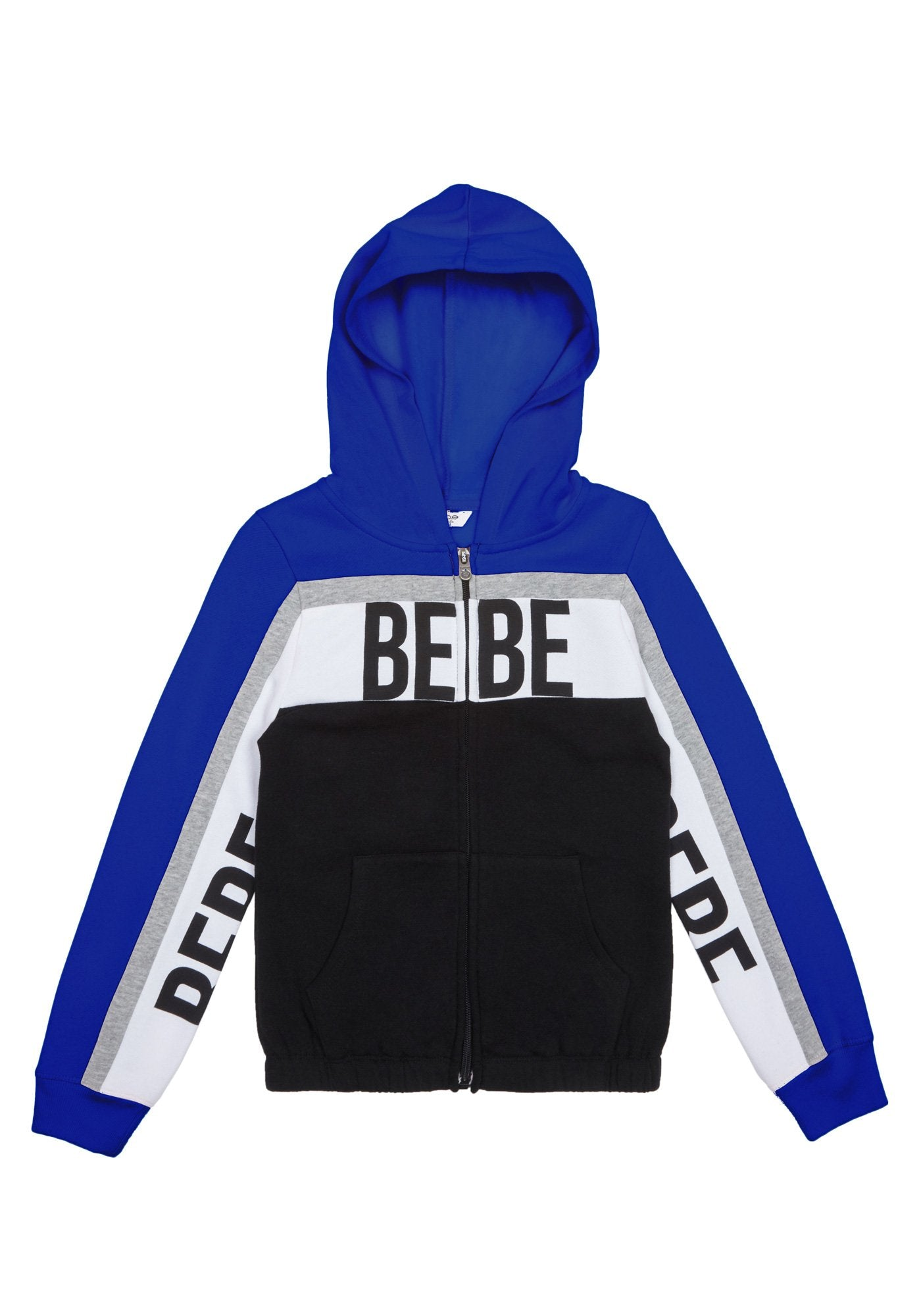 Image of Bebe Women's Girls Logo Fleece Jacket, Size XL(16) in Blue Cotton