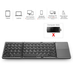 MOJO-HOME Bluetooth Wireless Folding Keyboard with Touchpad