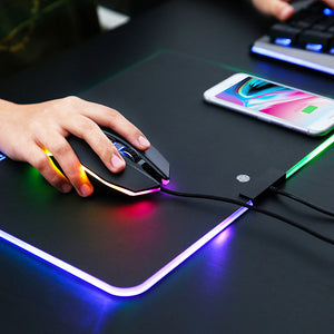 MOJO Wireless Charger Mousepad - Qi Quick Charging Mouse Pad