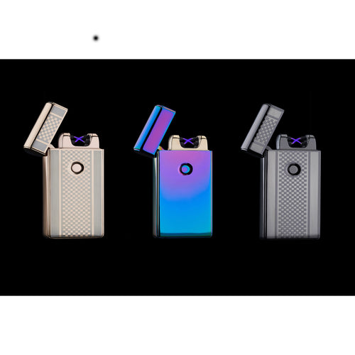 Spark Lighter - Electric Lighter USB Rechargeable Double Electrical Spark Cigarette Lighter