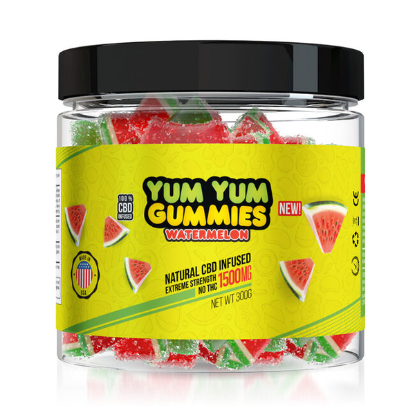 Diamond CBD Yum Yum CBD Watermelon Gummies 1500 MG
