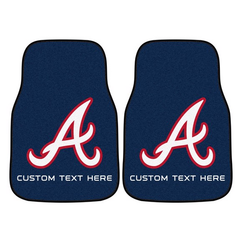 MLB - Atlanta Braves 2-piece Carpet Car Mat Set 17