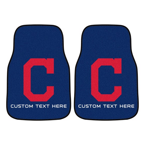 MLB - Cleveland Indians 2-piece Carpet Car Mat Set 17