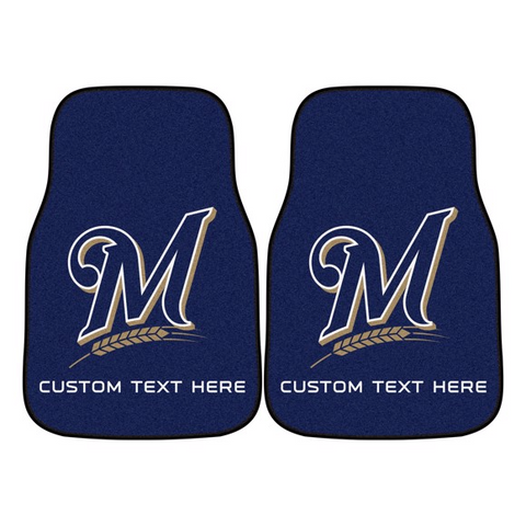 MLB - Milwaukee Brewers 2-piece Carpet Car Mat Set 17