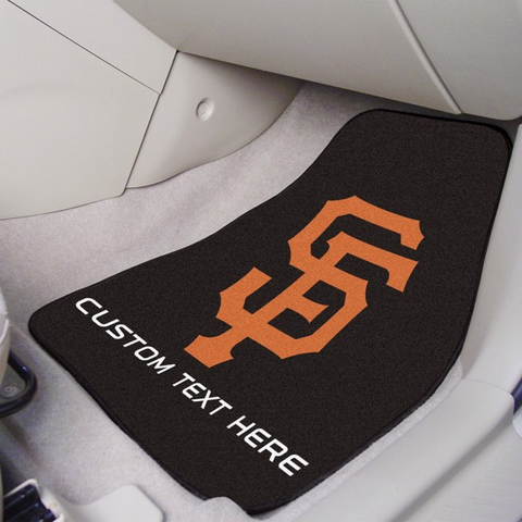 MLB - San Francisco Giants 2-piece Carpet Car Mat Set 17