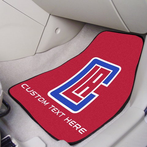 NBA - Los Angeles Clippers 2-piece Carpet Car Mat Set 17