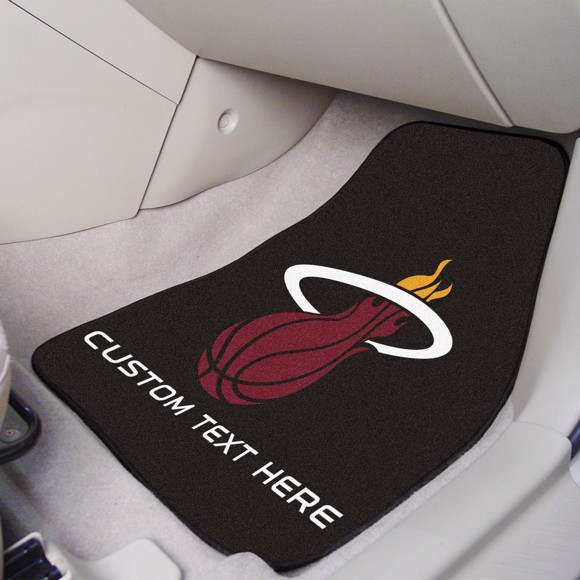 NBA - Miami Heat 2-piece Carpet Car Mat Set 17