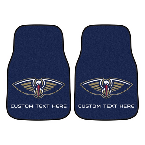 NBA - New Orleans Pelicans 2-piece Carpet Car Mat Set 17