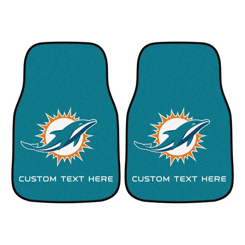 NFL - Miami Dolphins 2-piece Carpet Car Mat Set 17