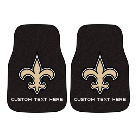 NFL - New Orleans Saints 2-piece Carpet Car Mat Set 17